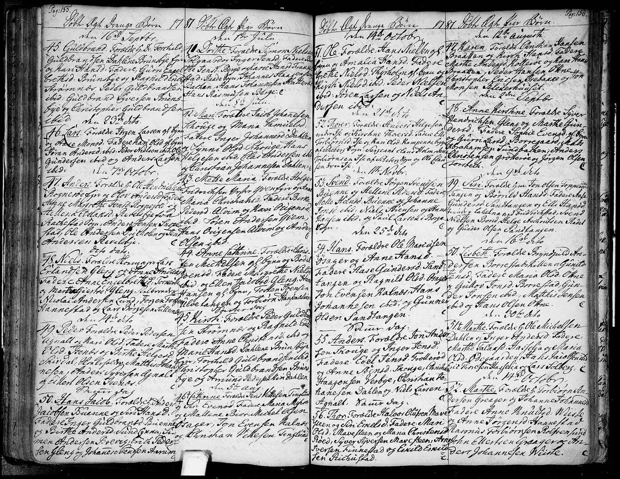 SAO, Tune prestekontor Kirkebøker, F/Fa/L0002: Ministerialbok nr. 2, 1758-1781, s. 155-156