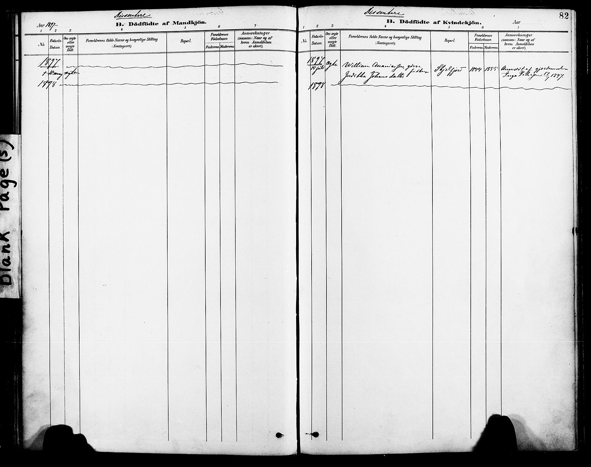 SAT, Ministerialprotokoller, klokkerbøker og fødselsregistre - Nordland, 885/L1205: Ministerialbok nr. 885A06, 1892-1905, s. 82