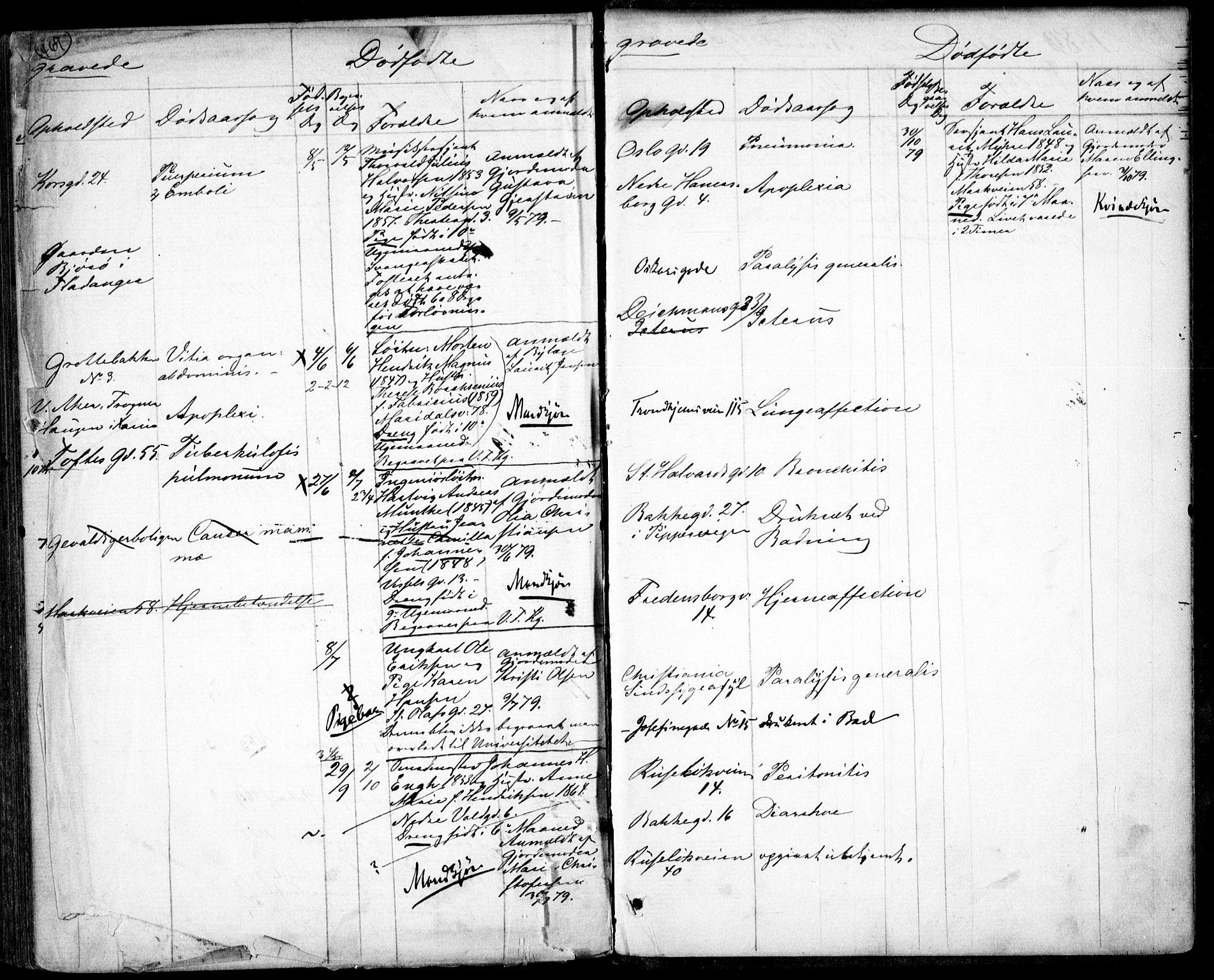 SAO, Garnisonsmenigheten Kirkebøker, G/Ga/L0006: Klokkerbok nr. 6, 1860-1880, s. 469