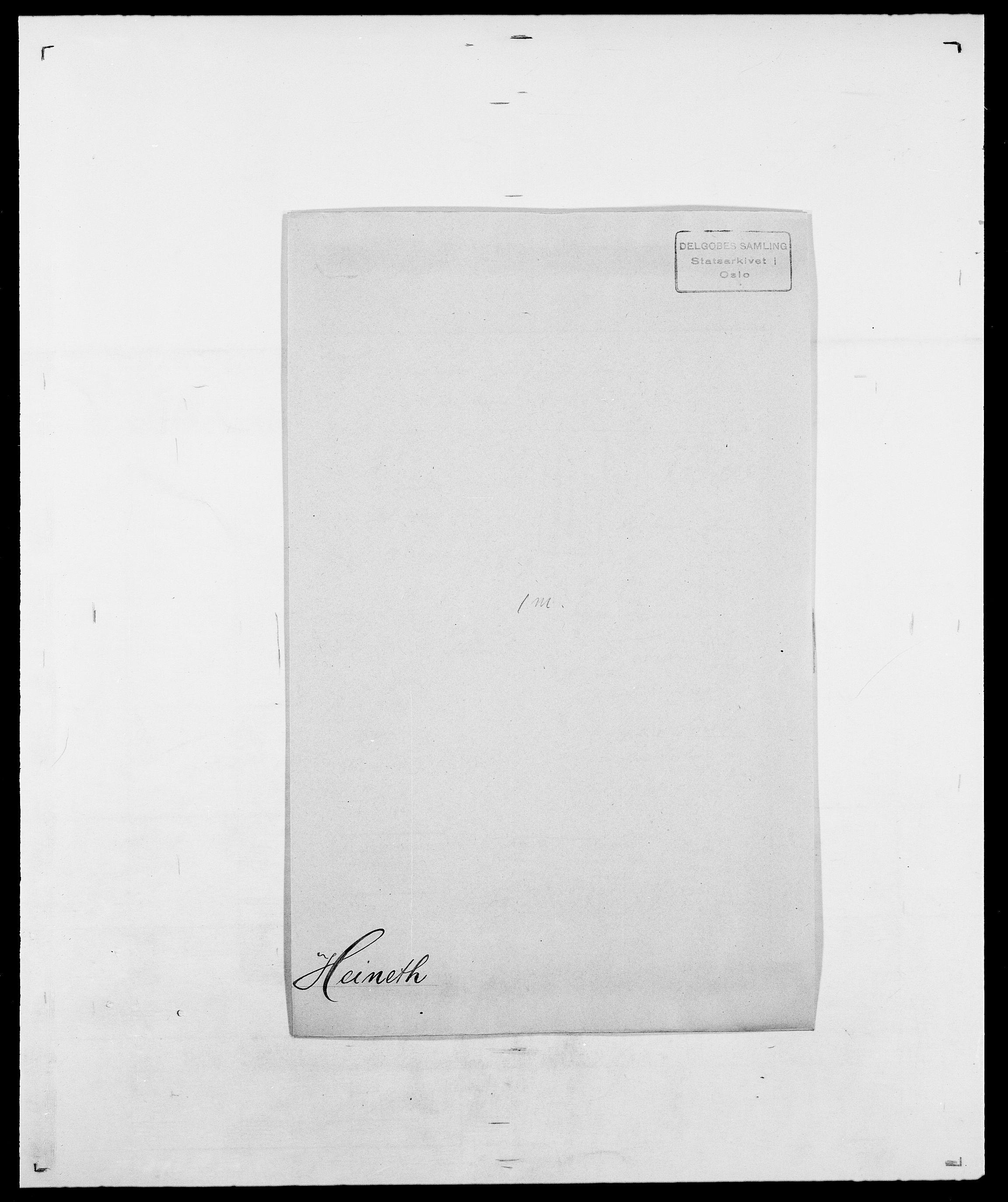 SAO, Delgobe, Charles Antoine - samling, D/Da/L0016: Hamborg - Hektoen, s. 846