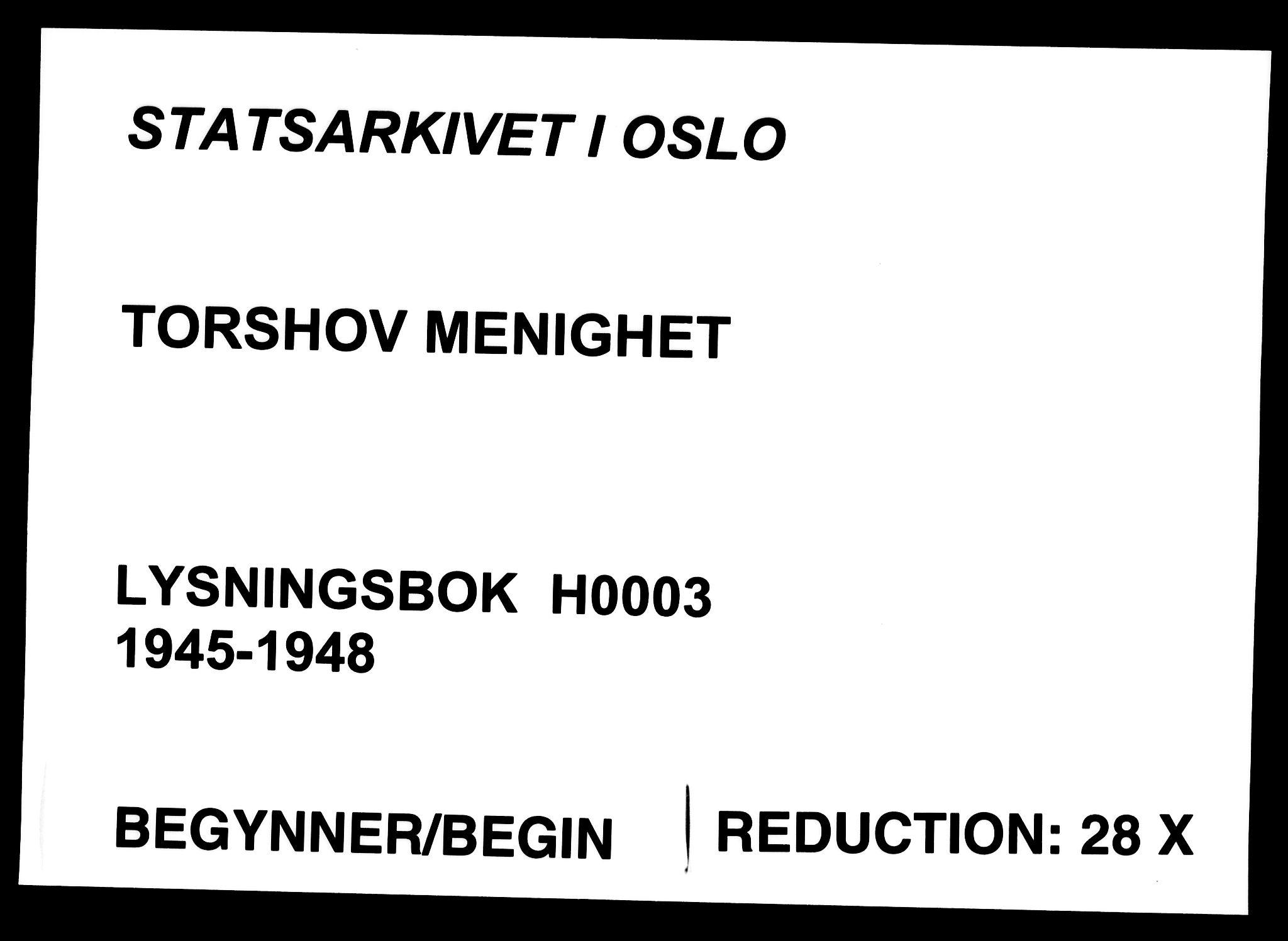 SAO, Torshov prestekontor Kirkebøker, H/Ha/L0003: Lysningsprotokoll nr. 3, 1945-1948