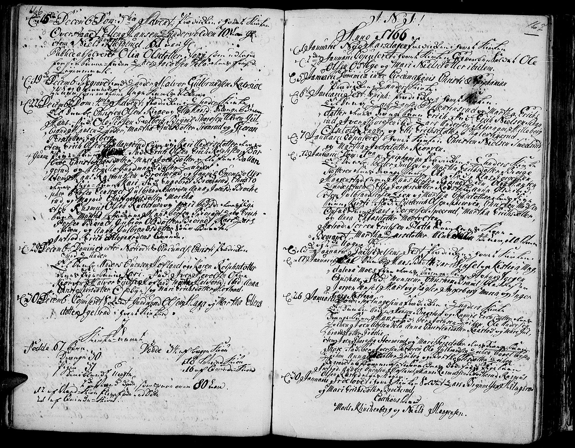 SAH, Jevnaker prestekontor, Ministerialbok nr. 3, 1752-1799, s. 166-167