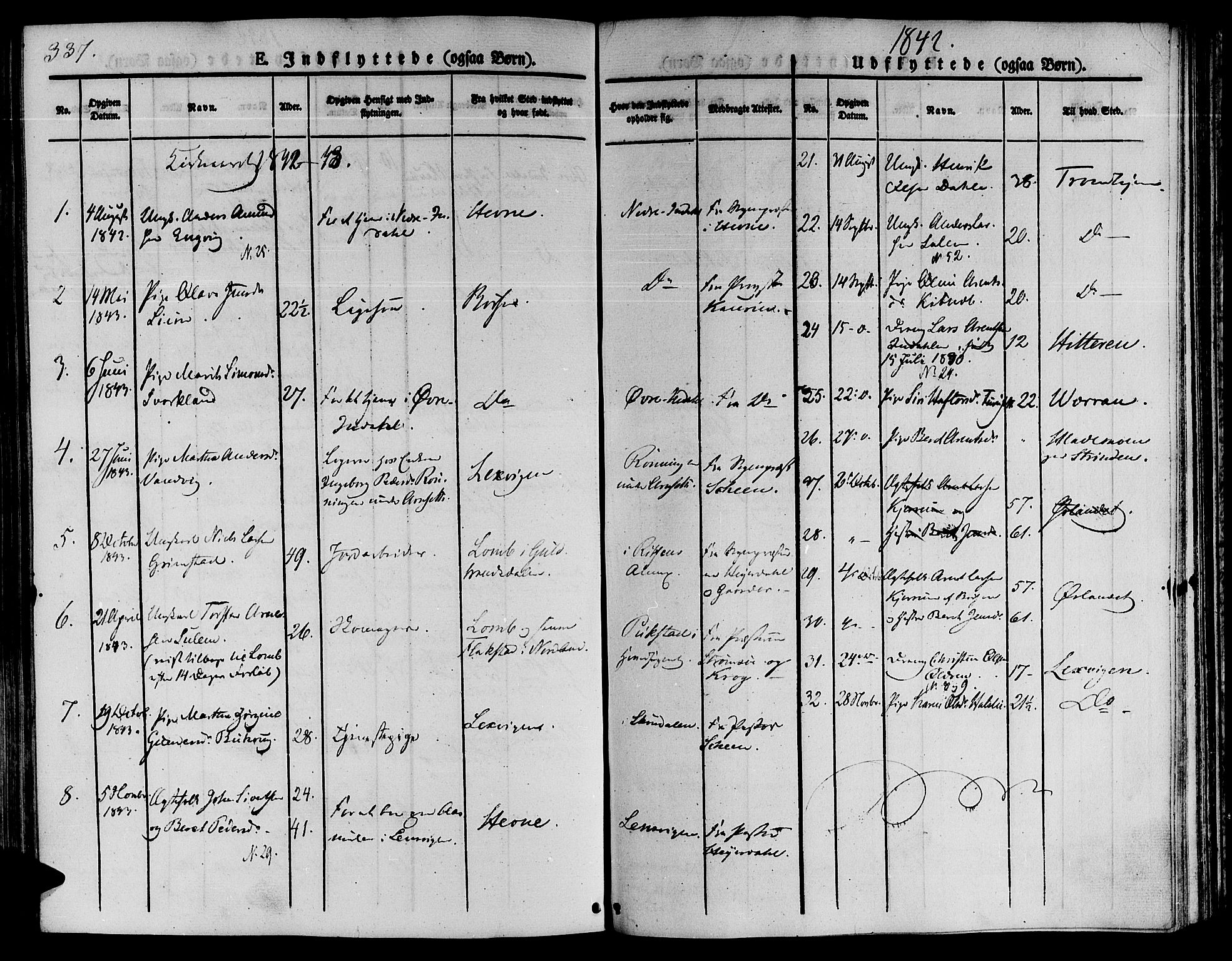SAT, Ministerialprotokoller, klokkerbøker og fødselsregistre - Sør-Trøndelag, 646/L0610: Ministerialbok nr. 646A08, 1837-1847, s. 337