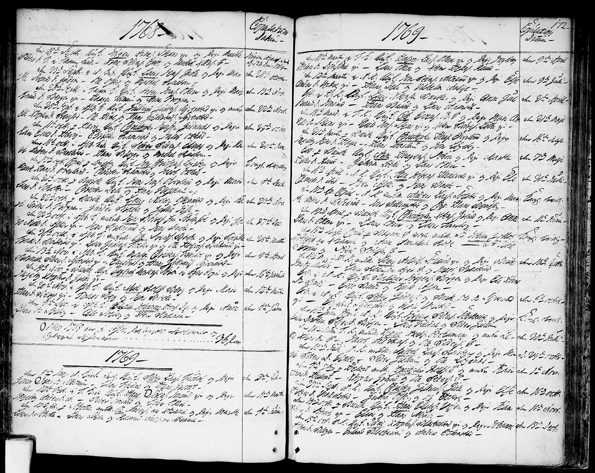 SAO, Asker prestekontor Kirkebøker, F/Fa/L0003: Ministerialbok nr. I 3, 1767-1807, s. 172