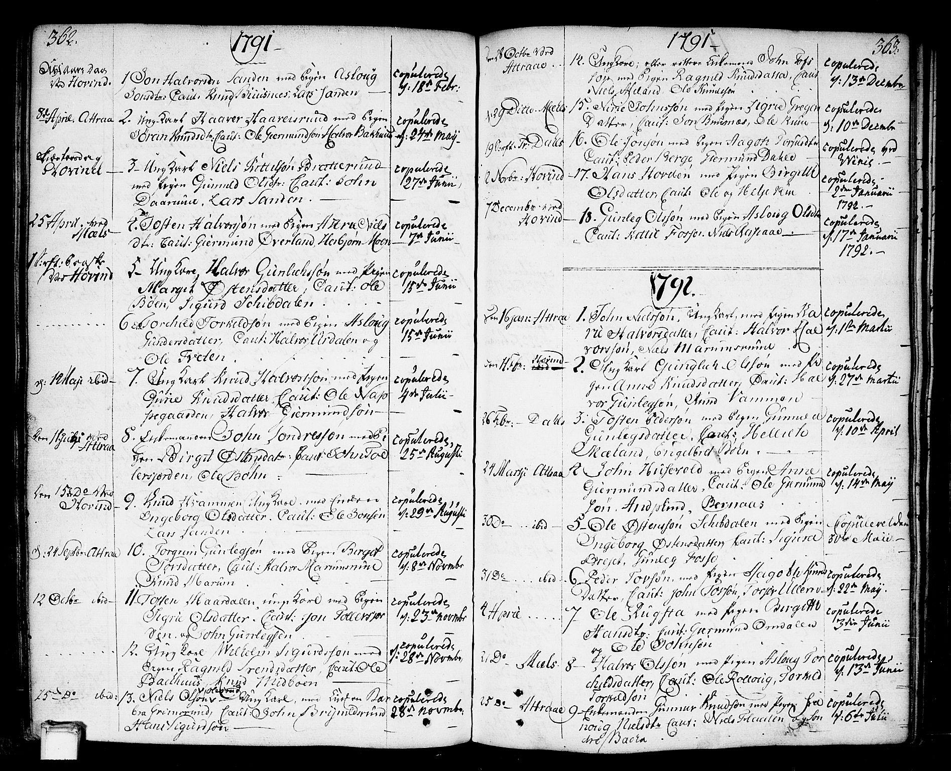 SAKO, Tinn kirkebøker, F/Fa/L0002: Ministerialbok nr. I 2, 1757-1810, s. 362-363