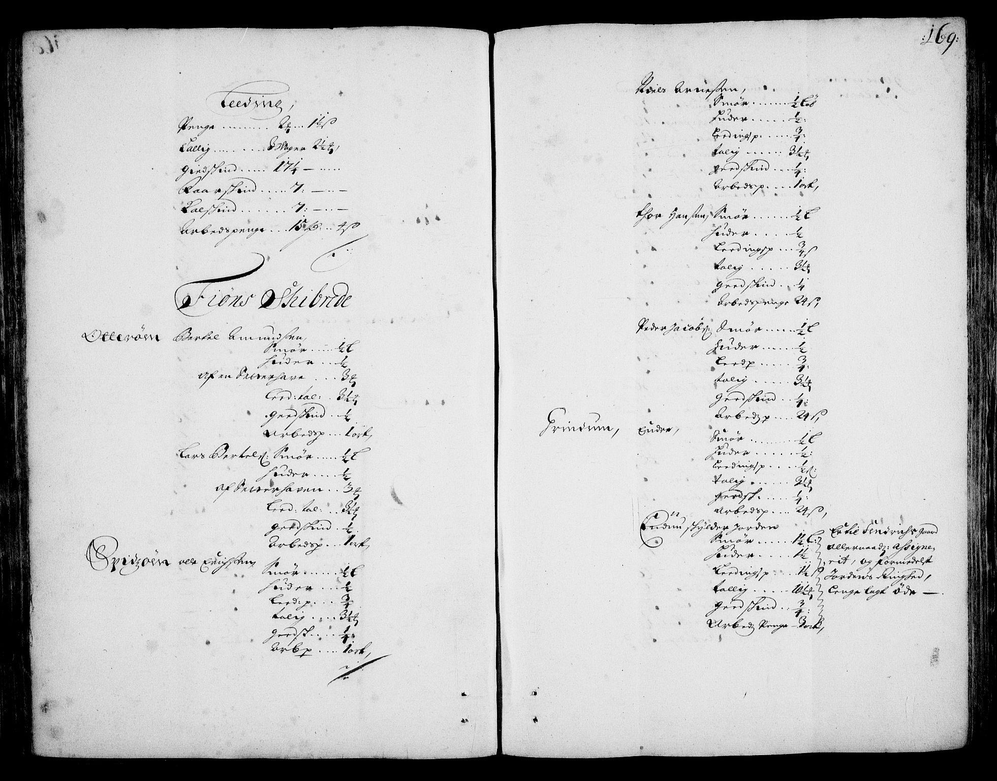 RA, Rentekammeret inntil 1814, Realistisk ordnet avdeling, On/L0002: [Jj 3]: Besiktigelsesforretninger over Halsnøy klosters gods, 1659-1703, s. 168b-169a