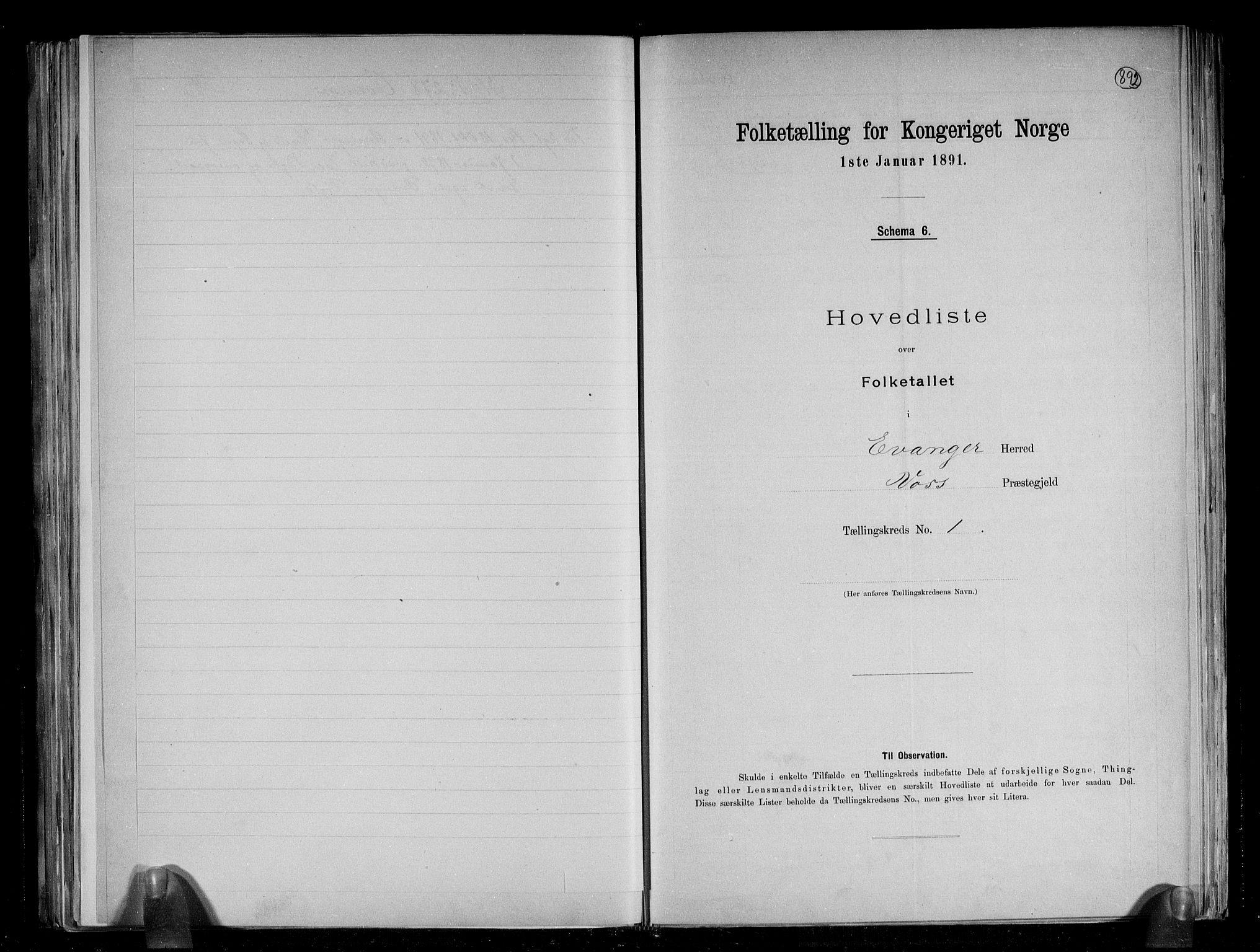 RA, Folketelling 1891 for 1237 Evanger herred, 1891, s. 5