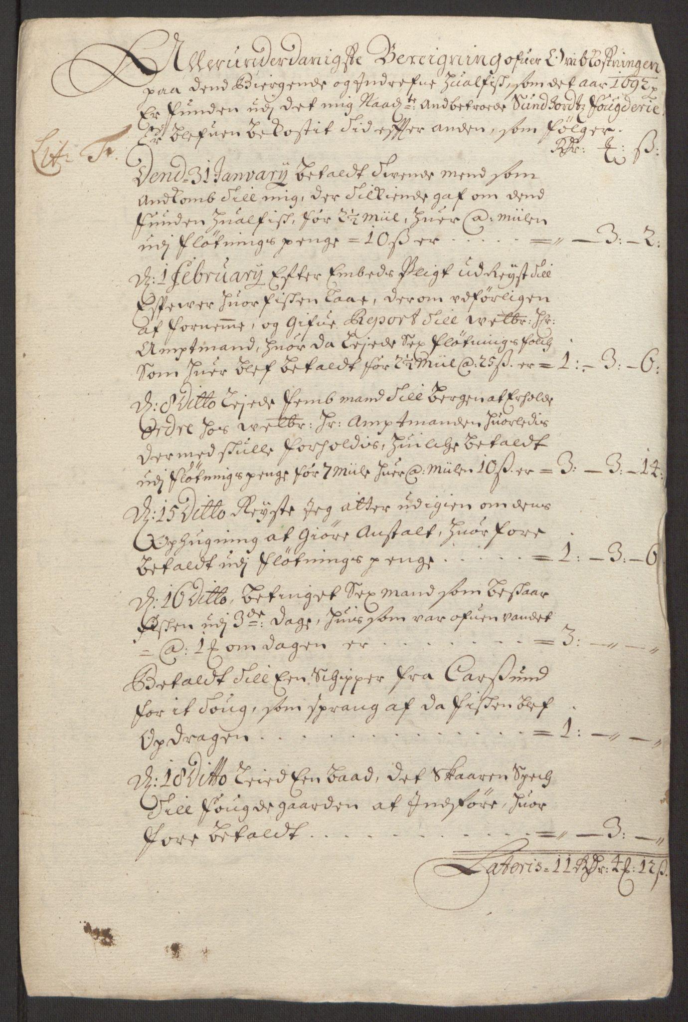 RA, Rentekammeret inntil 1814, Reviderte regnskaper, Fogderegnskap, R48/L2973: Fogderegnskap Sunnhordland og Hardanger, 1691-1692, s. 431