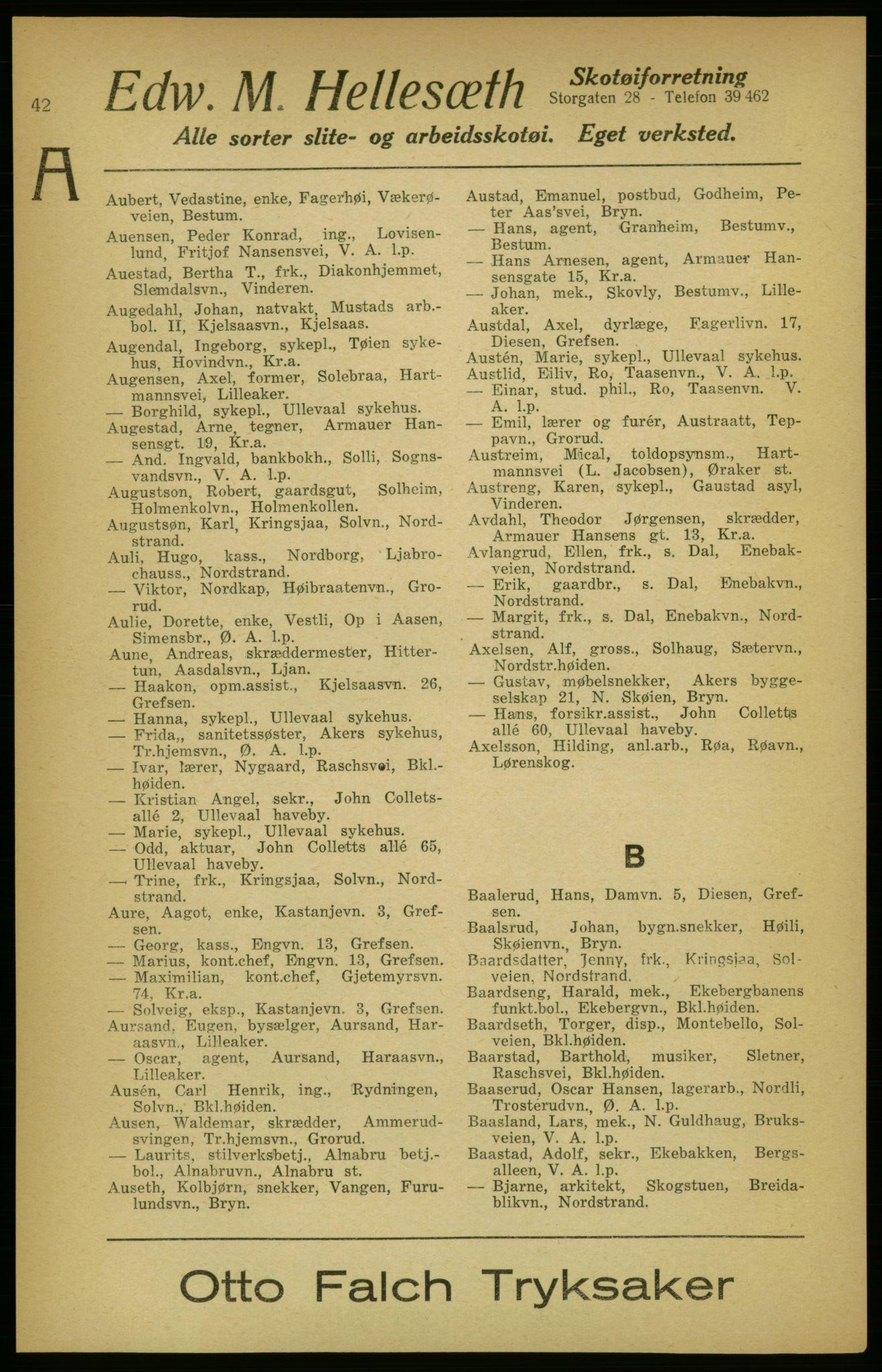 PUBL, Aker adressebok/adressekalender, 1924-1925, s. 42