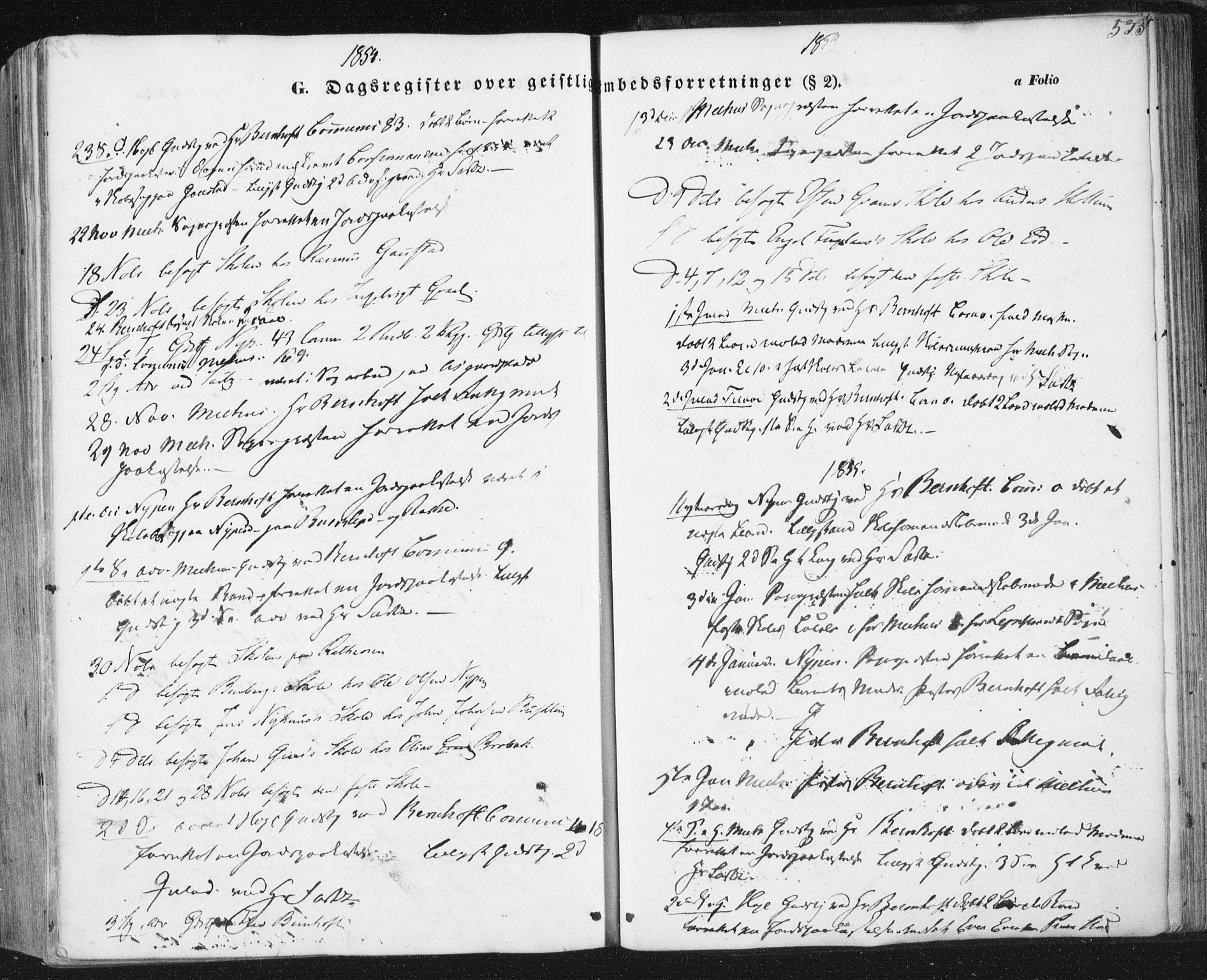 SAT, Ministerialprotokoller, klokkerbøker og fødselsregistre - Sør-Trøndelag, 691/L1076: Ministerialbok nr. 691A08, 1852-1861, s. 533