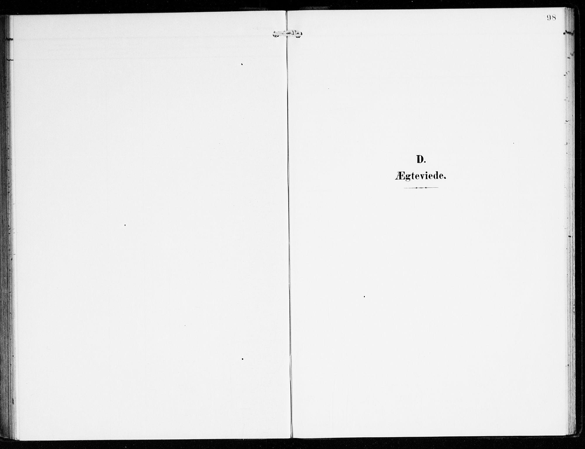 SAB, Hyllestad Sokneprestembete, Ministerialbok nr. B 2, 1903-1917, s. 98