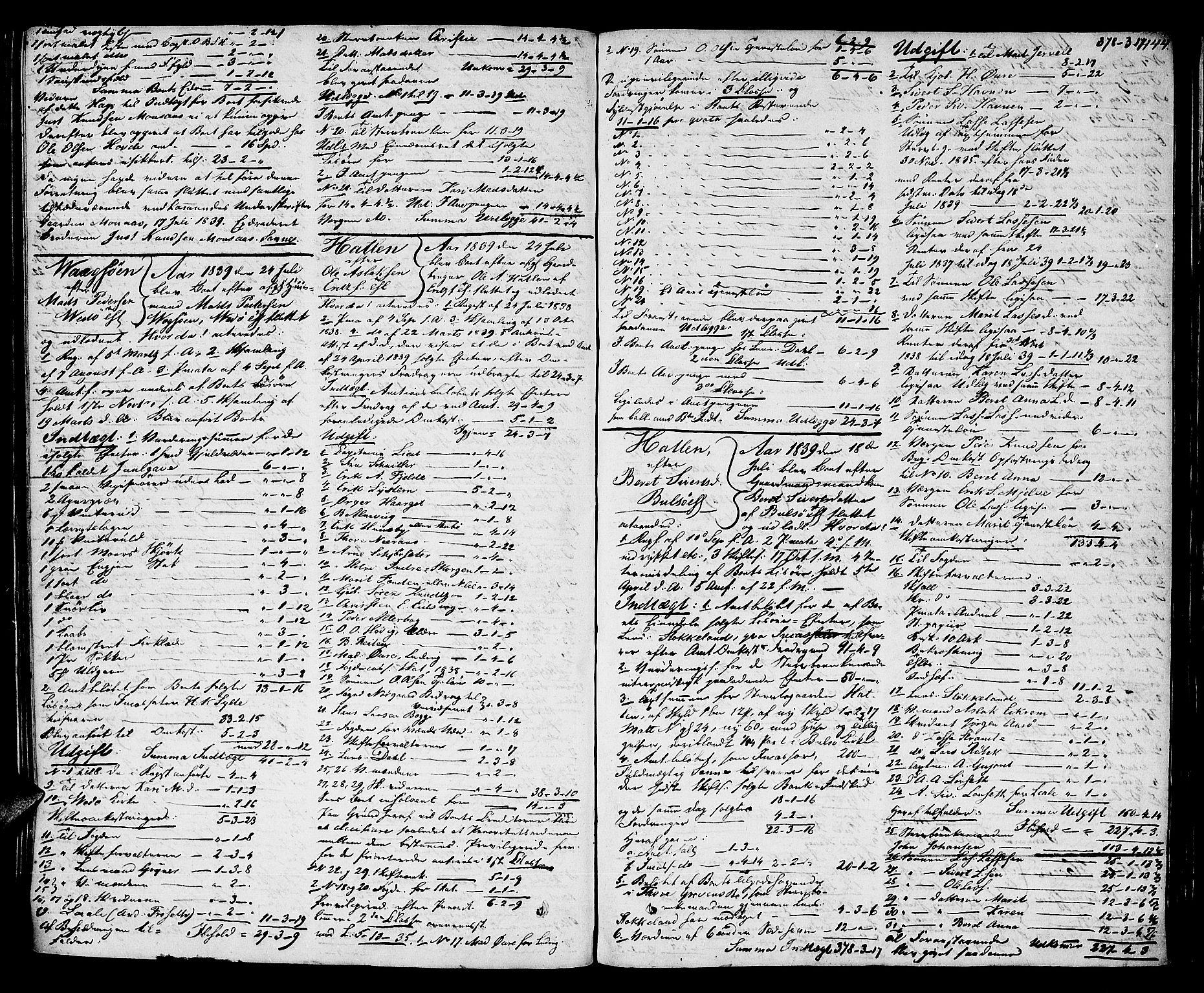 SAT, Romsdal sorenskriveri, 3/3A/L0017: Skifteutlodnings Protokoll 3, 1832-1840, s. 444