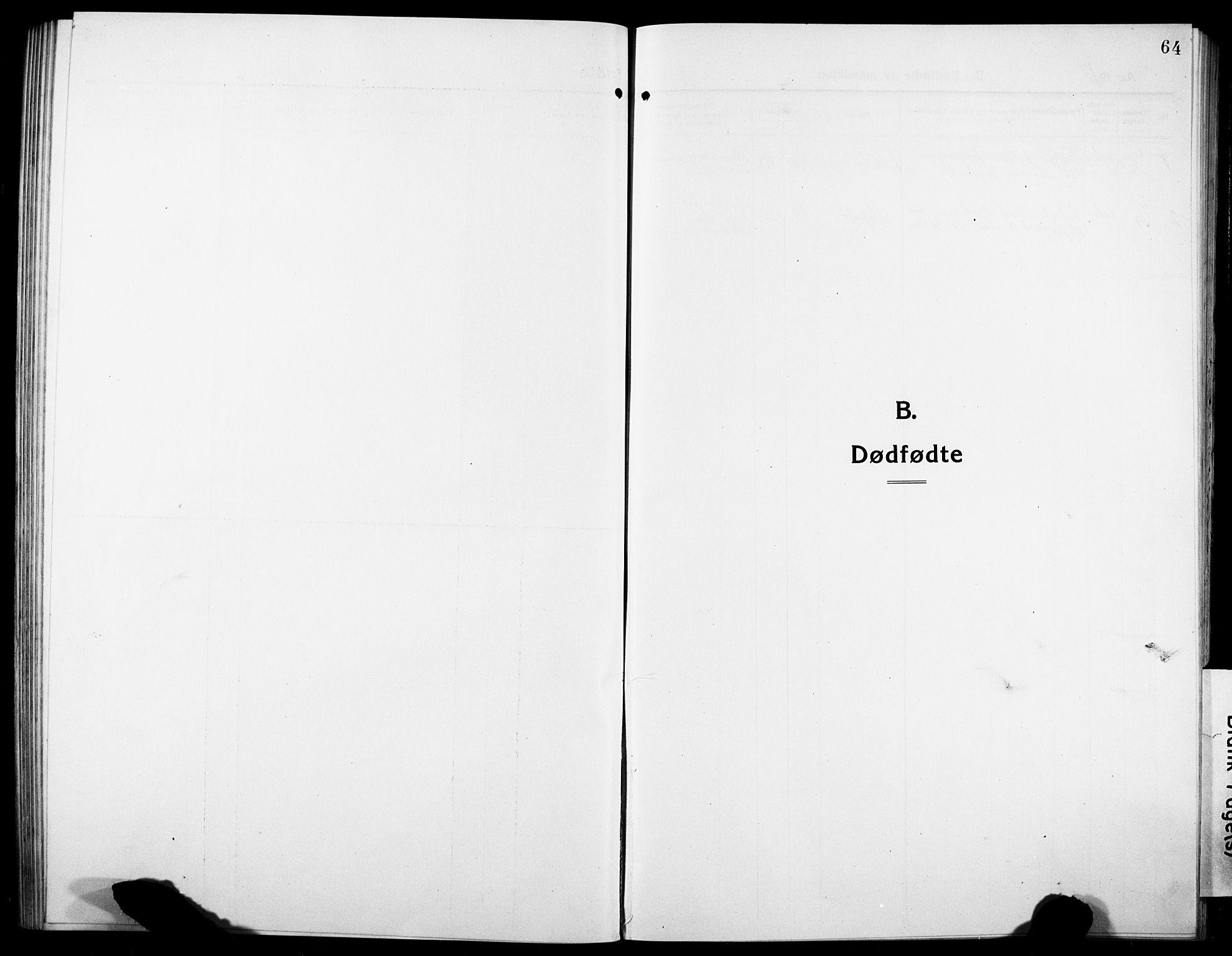 SAT, Ministerialprotokoller, klokkerbøker og fødselsregistre - Sør-Trøndelag, 634/L0543: Klokkerbok nr. 634C05, 1917-1928, s. 64