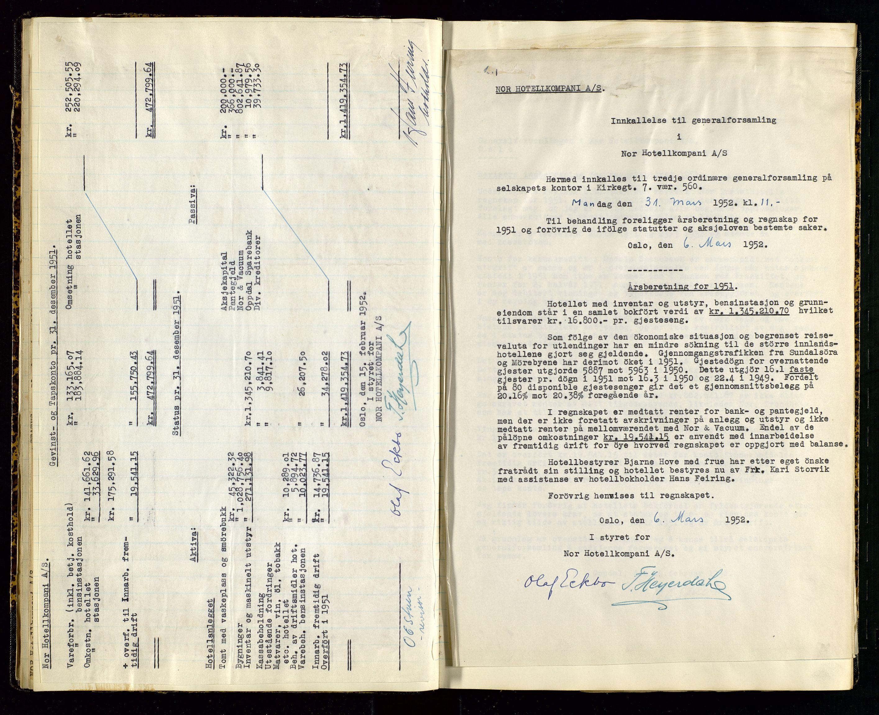 SAST, PA 1516 - Nor Hotellkompani A/S, A/L0001: Referatprotokoll, 1948-1855, s. 23