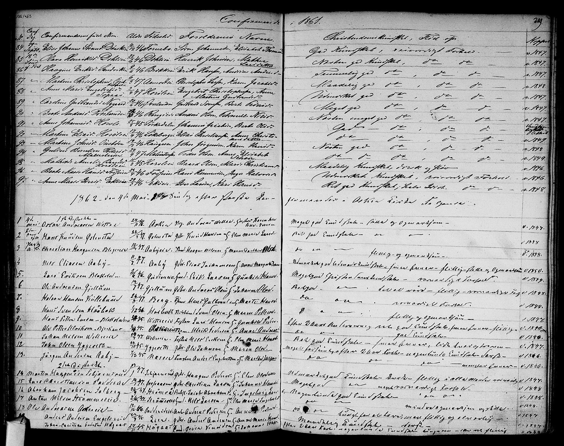 SAO, Asker prestekontor Kirkebøker, F/Fa/L0009: Ministerialbok nr. I 9, 1825-1878, s. 209