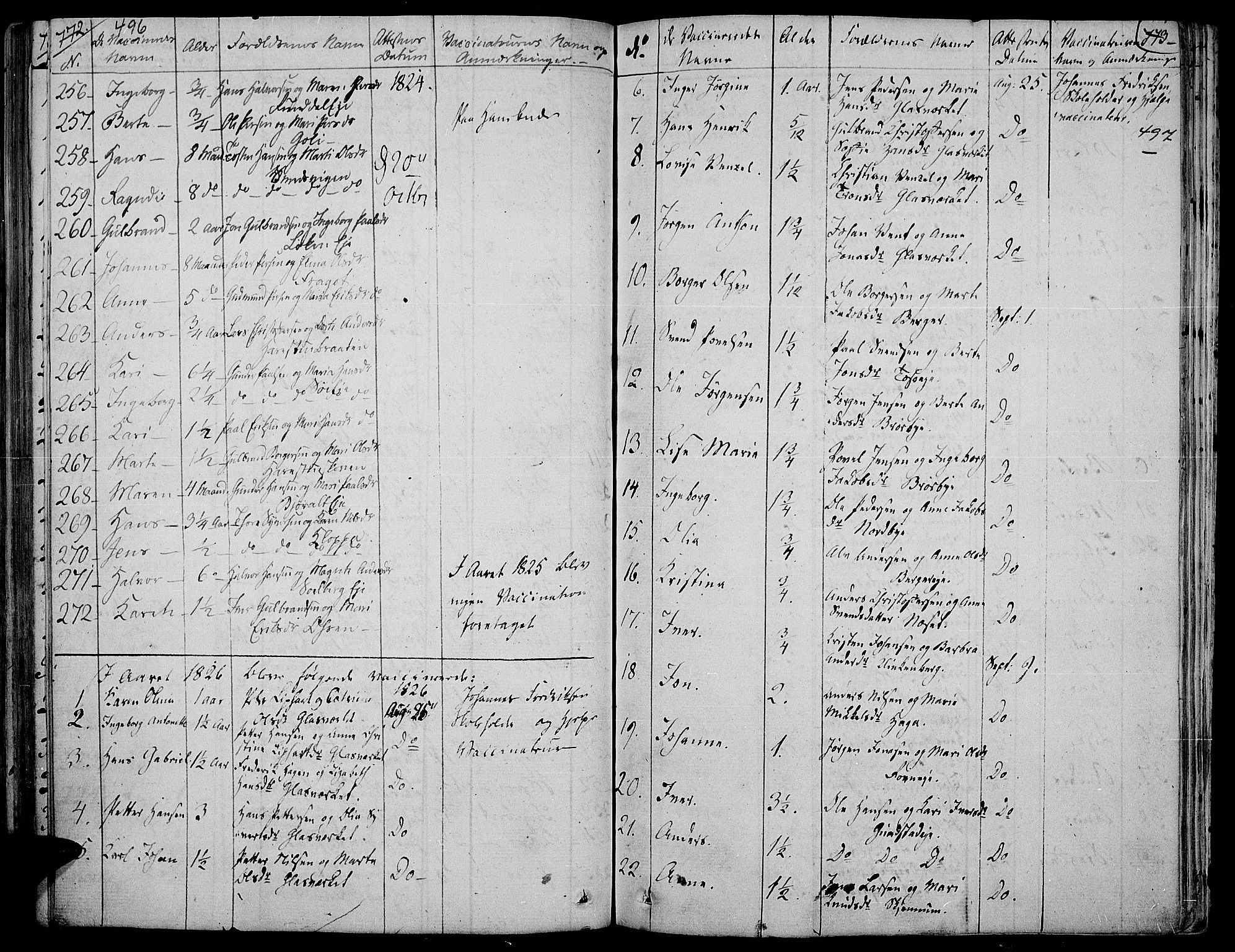 SAH, Jevnaker prestekontor, Ministerialbok nr. 4, 1800-1861, s. 496-497