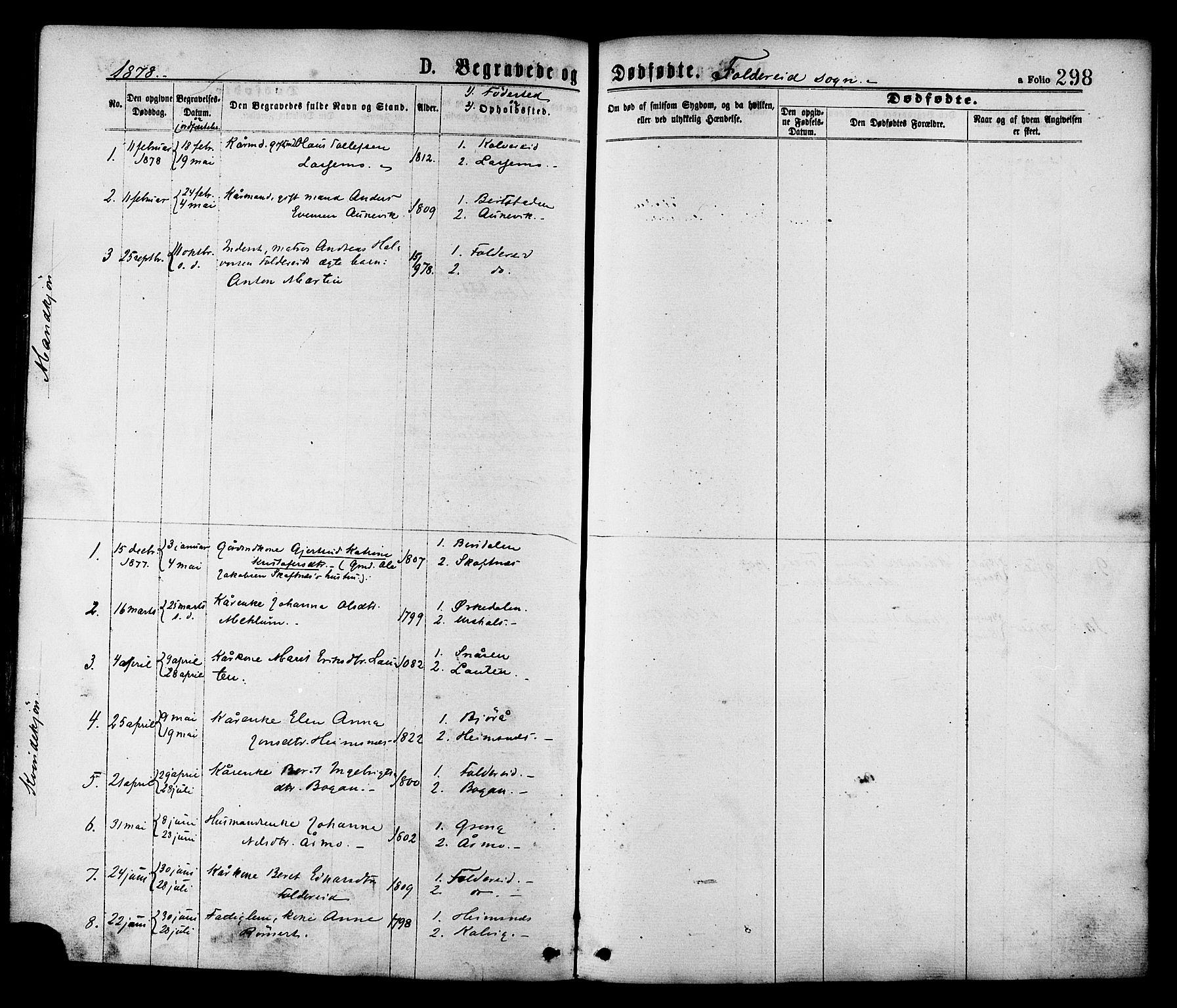 SAT, Ministerialprotokoller, klokkerbøker og fødselsregistre - Nord-Trøndelag, 780/L0642: Ministerialbok nr. 780A07 /2, 1878-1885, s. 298