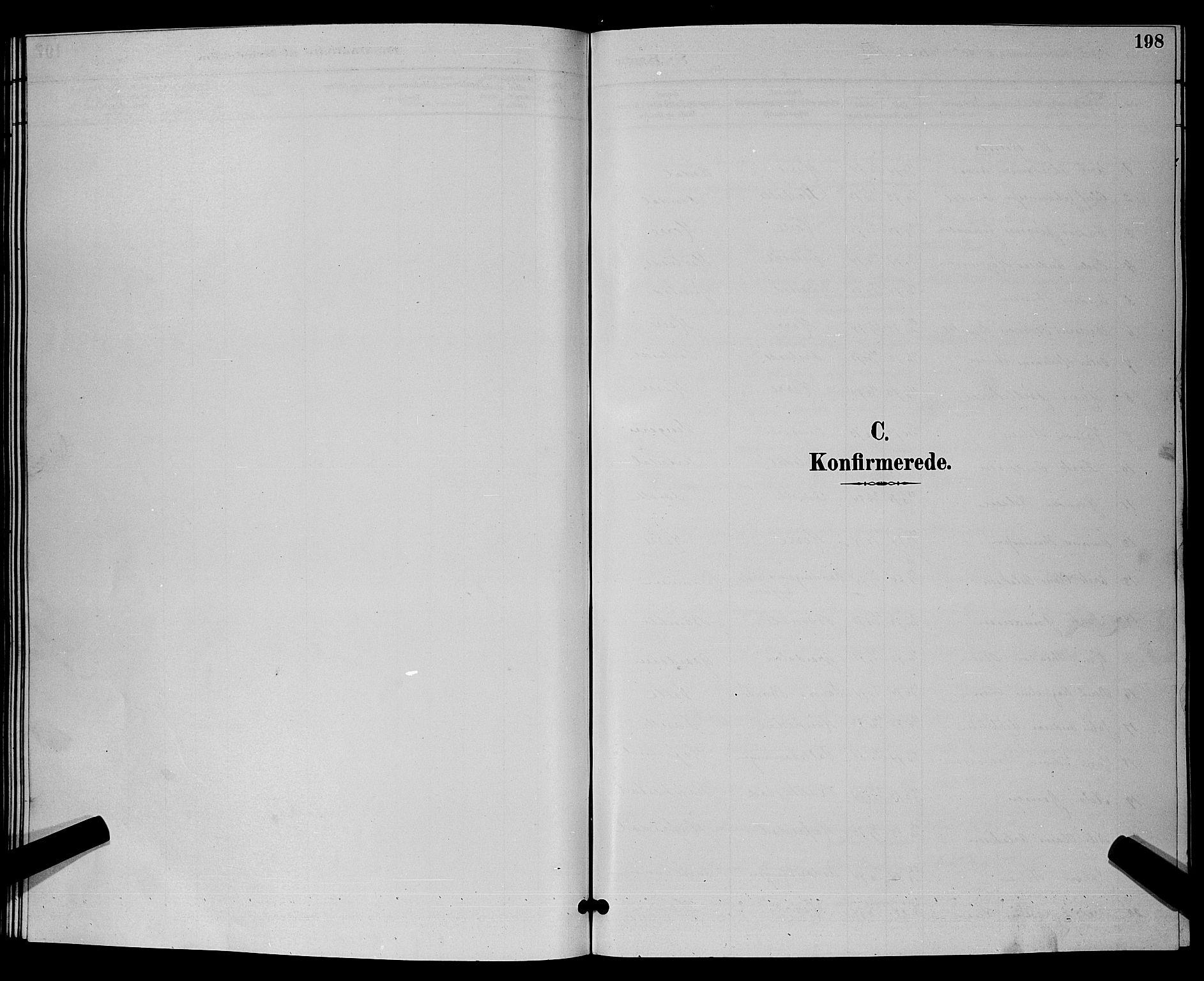 SAKO, Bamble kirkebøker, G/Ga/L0009: Klokkerbok nr. I 9, 1888-1900, s. 198