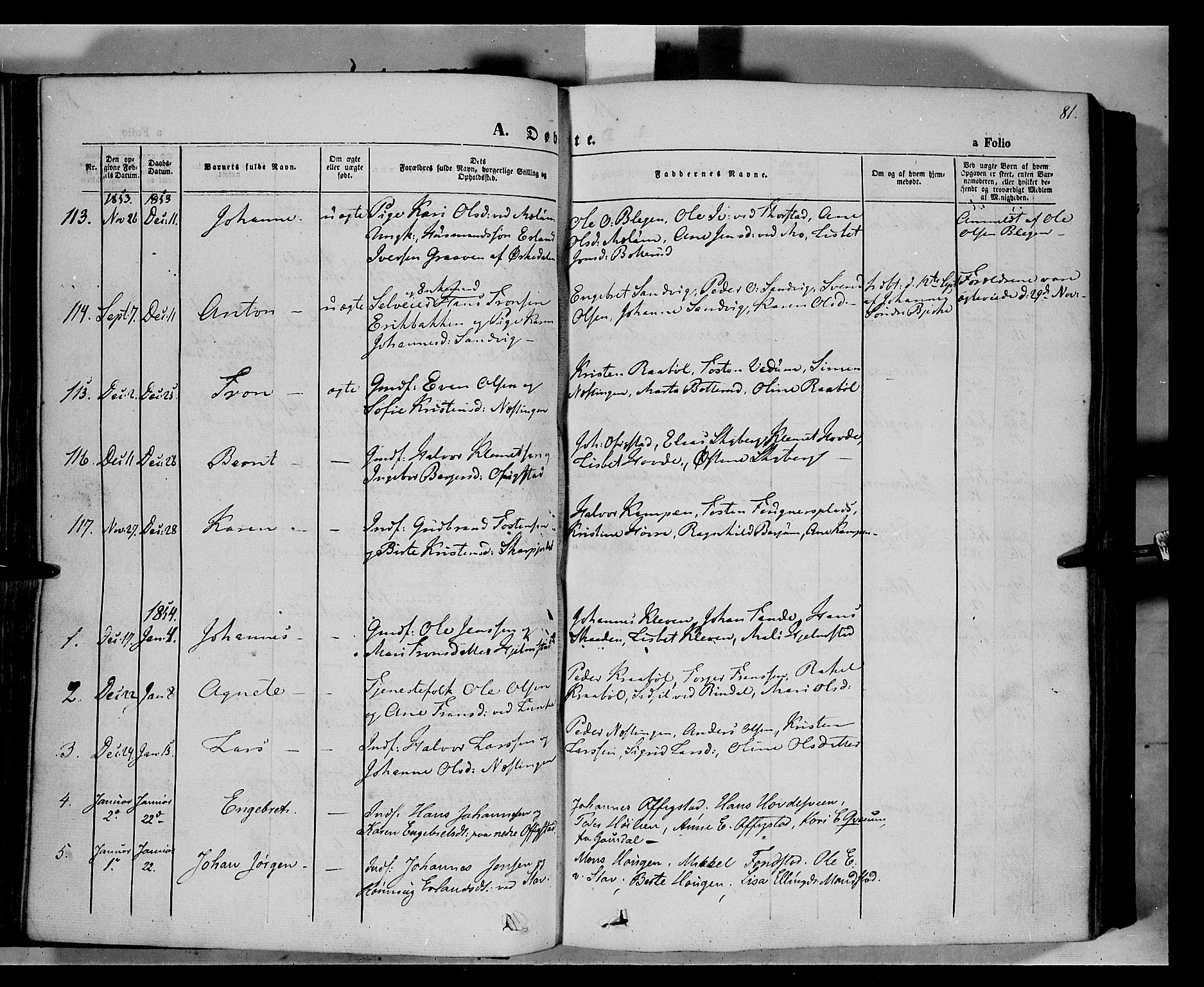 SAH, Øyer prestekontor, Ministerialbok nr. 5, 1842-1857, s. 81