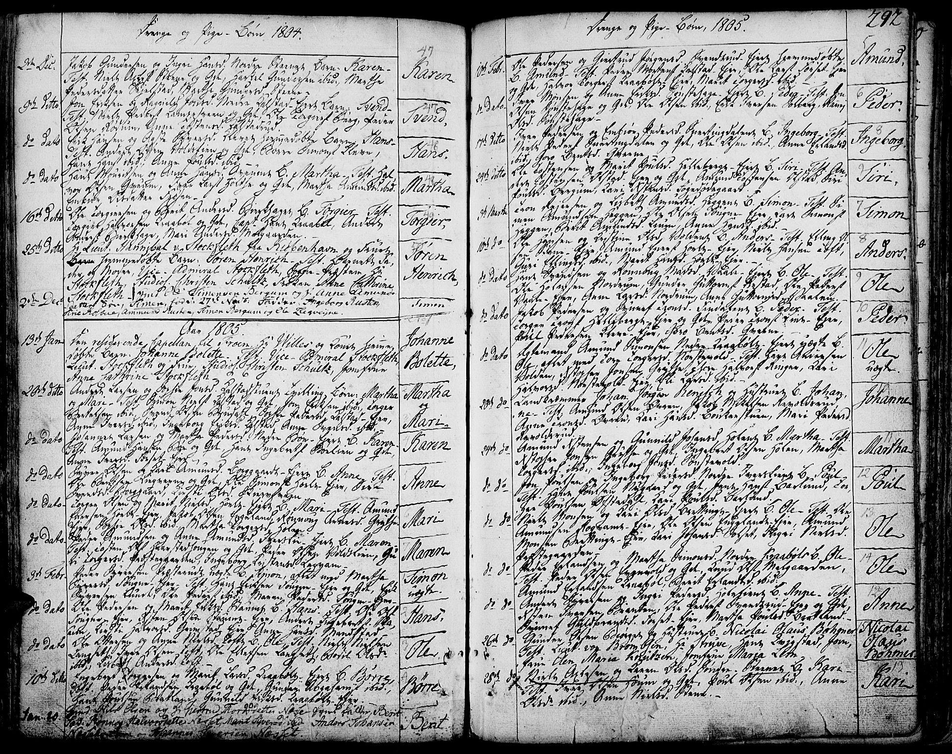 SAH, Gausdal prestekontor, Ministerialbok nr. 3, 1758-1809, s. 292