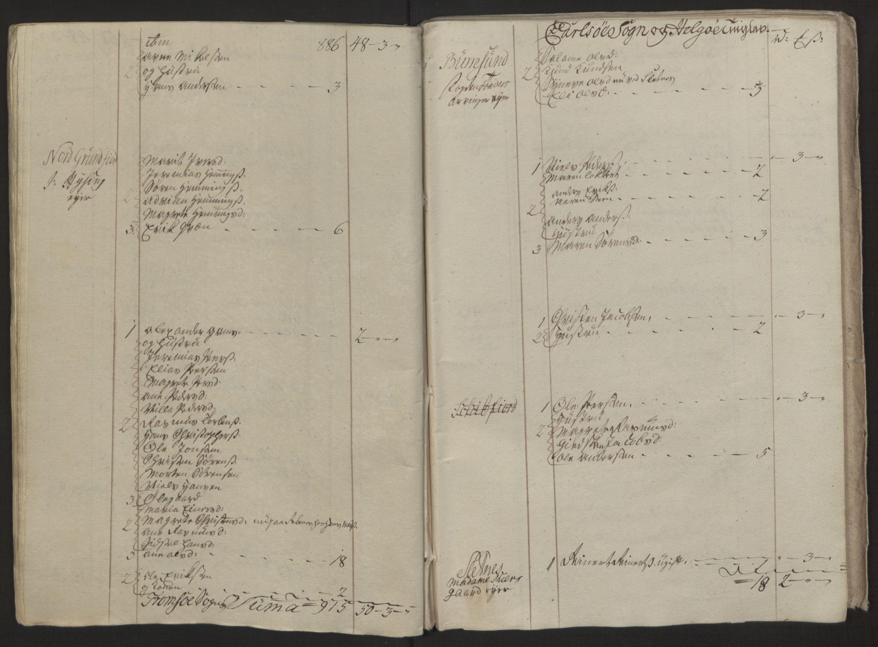 RA, Rentekammeret inntil 1814, Reviderte regnskaper, Fogderegnskap, R68/L4845: Ekstraskatten Senja og Troms, 1762-1765, s. 394