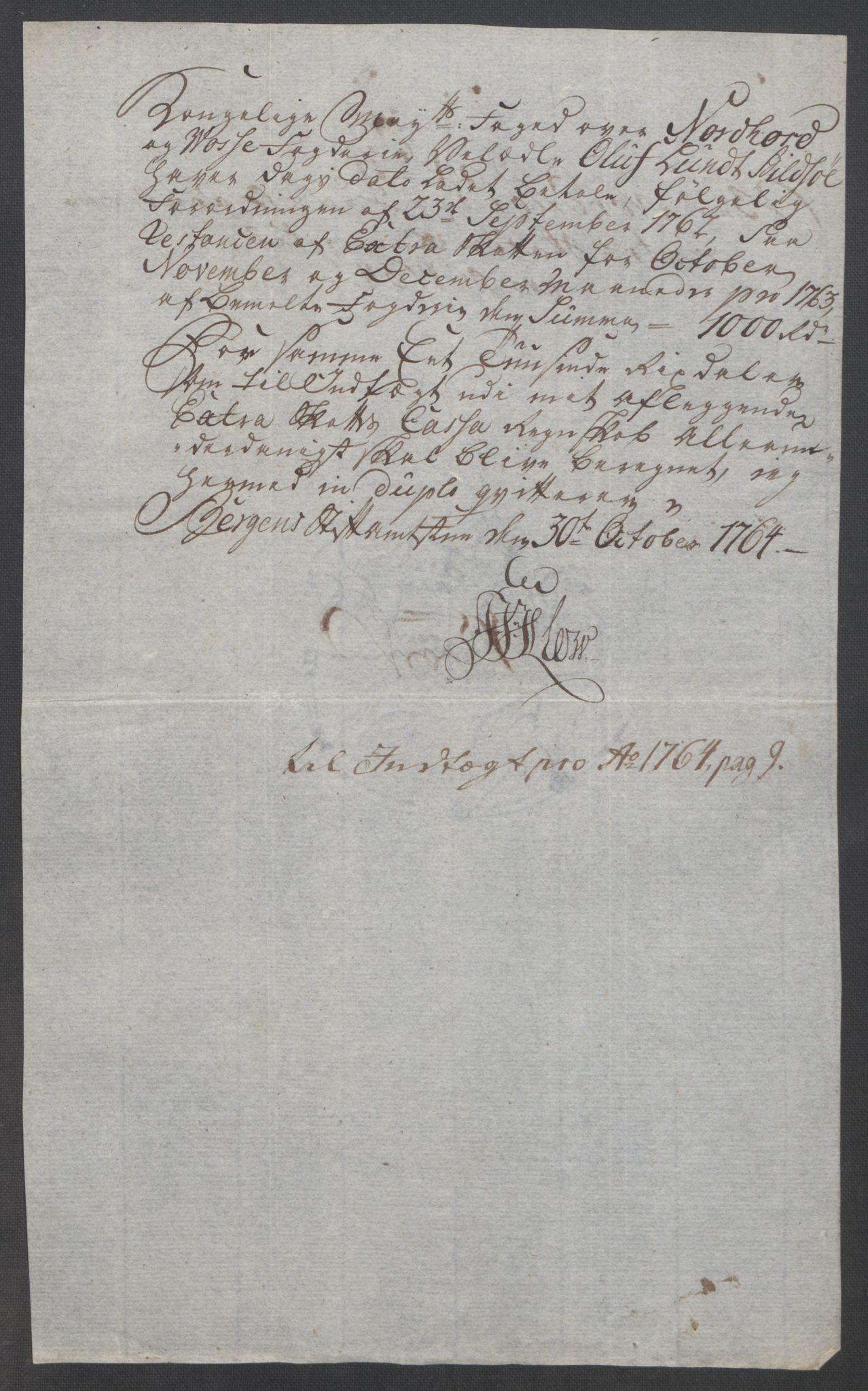 RA, Rentekammeret inntil 1814, Reviderte regnskaper, Fogderegnskap, R51/L3303: Ekstraskatten Nordhordland og Voss, 1762-1772, s. 85