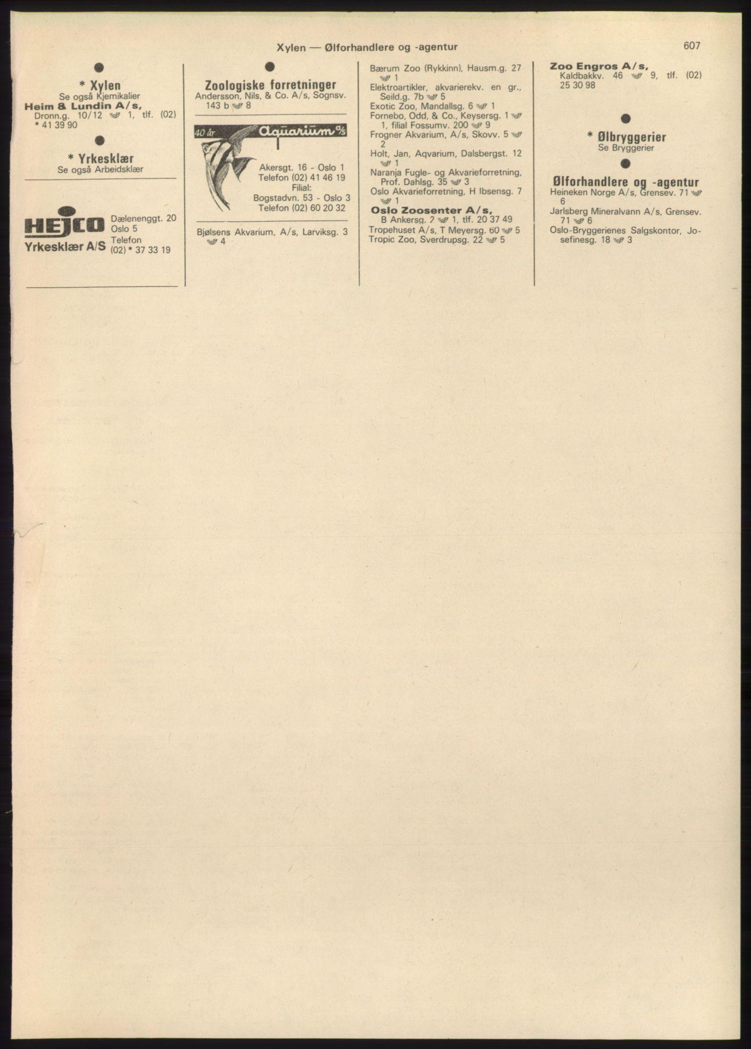 PUBL, Kristiania/Oslo adressebok, 1980-1981, s. 607