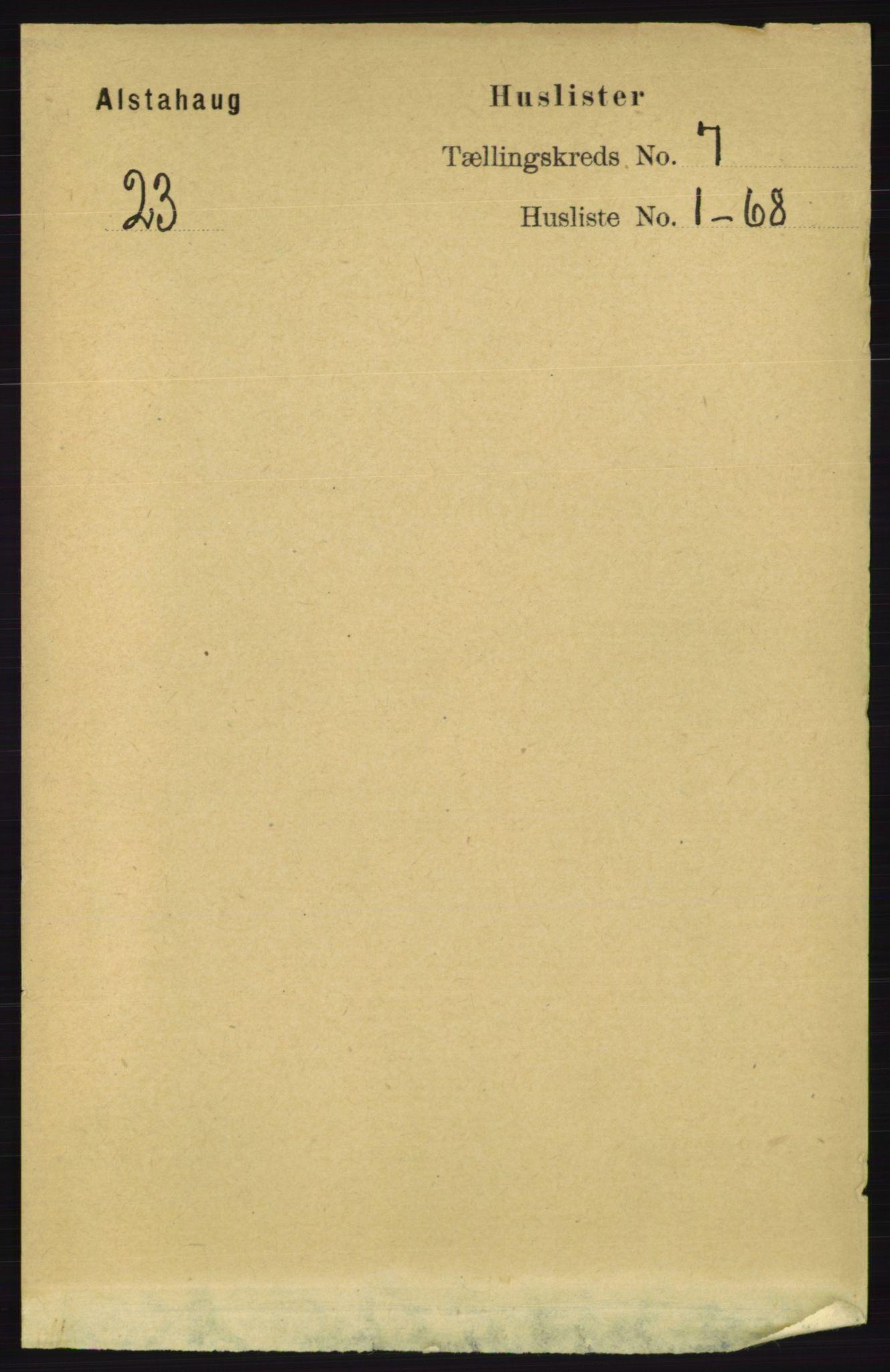 RA, Folketelling 1891 for 1820 Alstahaug herred, 1891, s. 2405