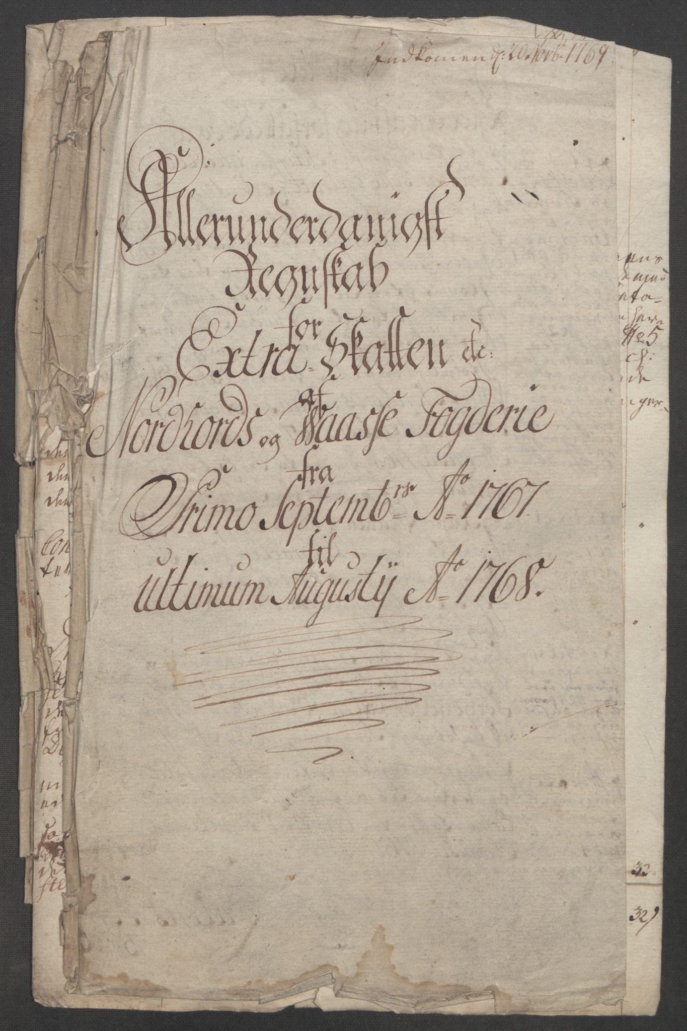 RA, Rentekammeret inntil 1814, Reviderte regnskaper, Fogderegnskap, R51/L3303: Ekstraskatten Nordhordland og Voss, 1762-1772, s. 166