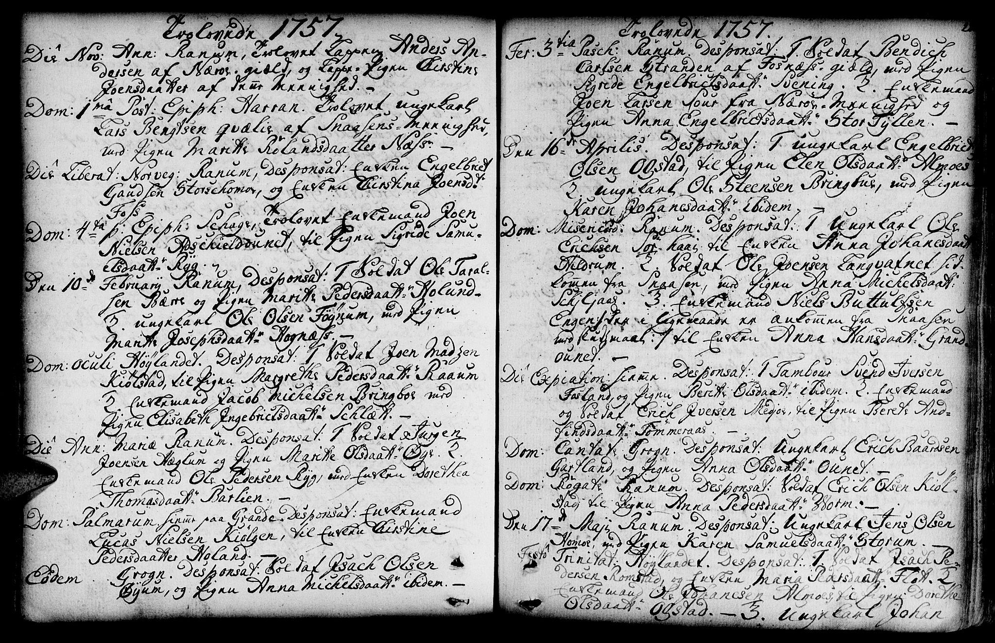 SAT, Ministerialprotokoller, klokkerbøker og fødselsregistre - Nord-Trøndelag, 764/L0542: Ministerialbok nr. 764A02, 1748-1779, s. 210