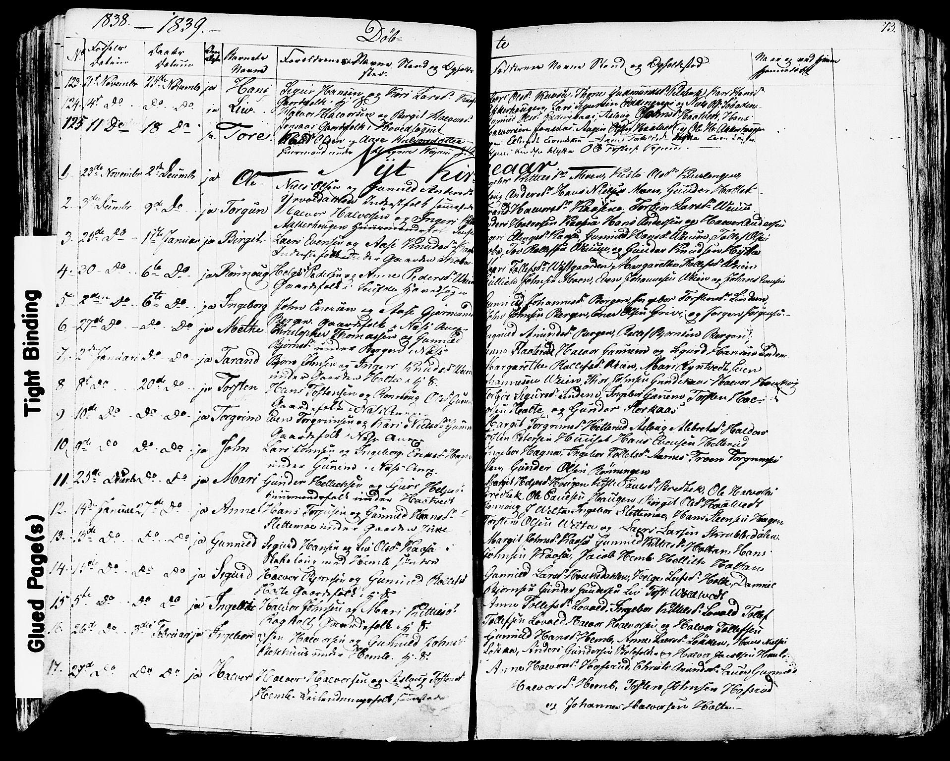 SAKO, Sauherad kirkebøker, F/Fa/L0006: Ministerialbok nr. I 6, 1827-1850, s. 73