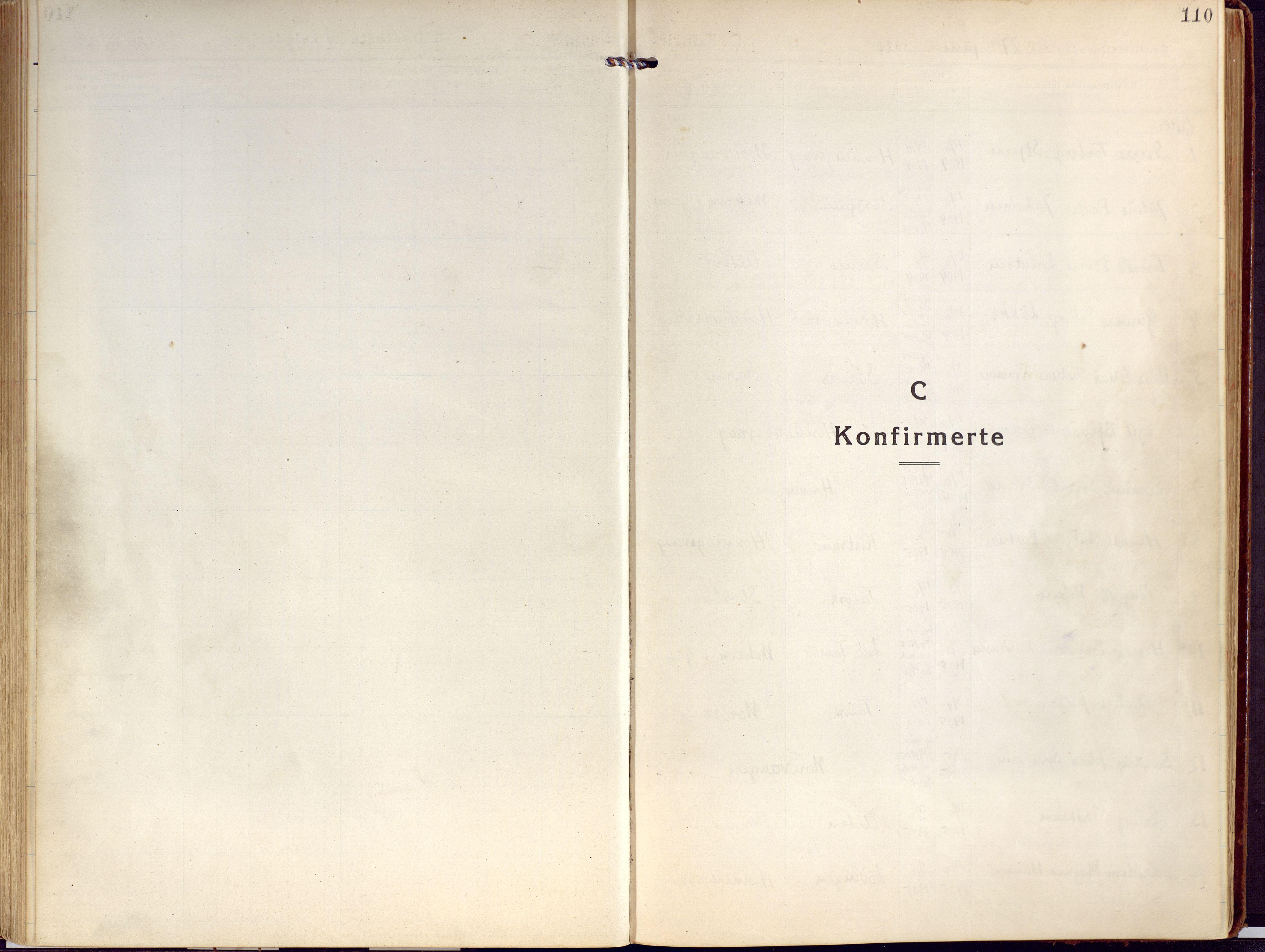 SATØ, Kjelvik/Nordkapp sokneprestkontor, H/Ha/L0002kirke: Ministerialbok nr. 2, 1920-1929, s. 110