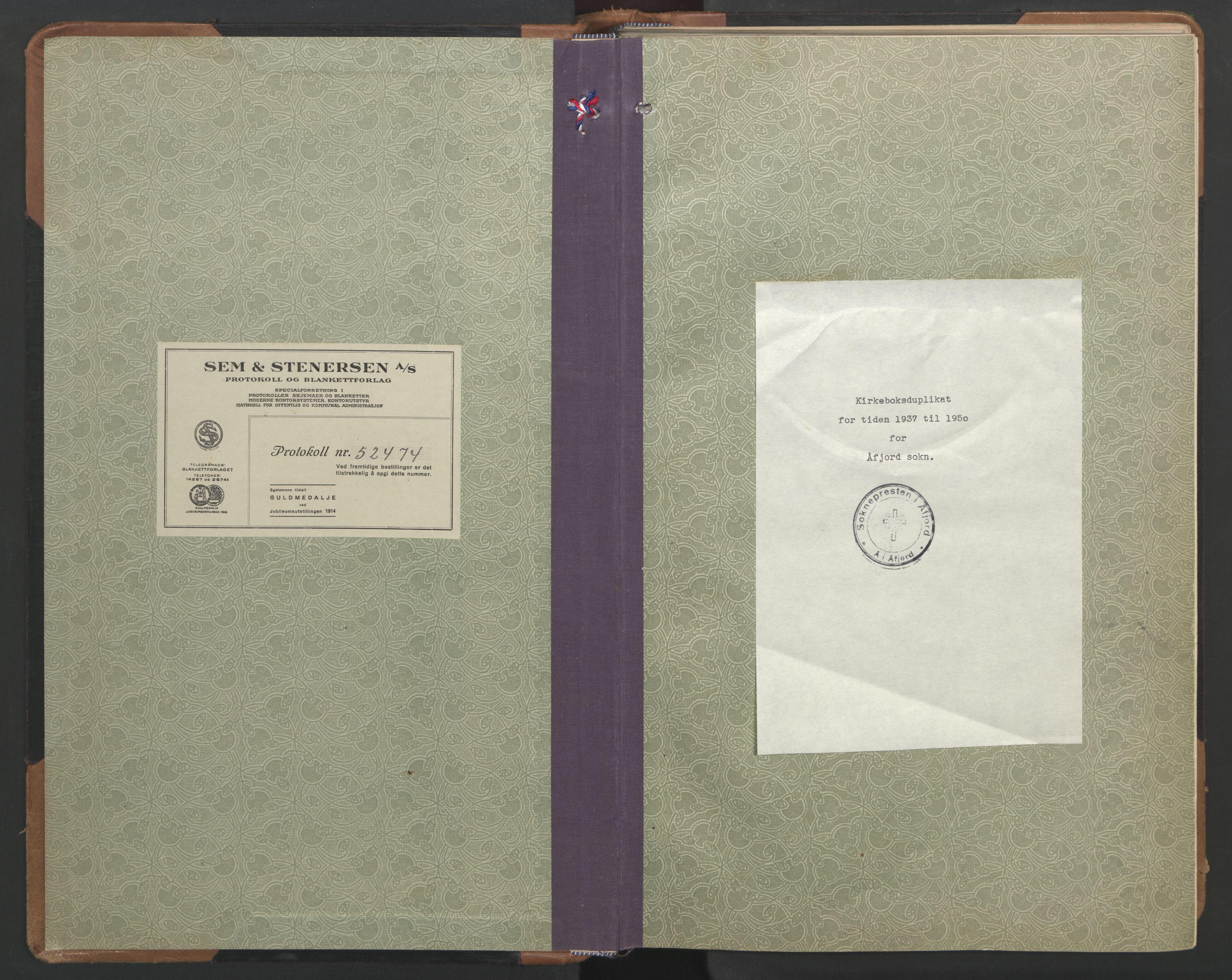 SAT, Ministerialprotokoller, klokkerbøker og fødselsregistre - Sør-Trøndelag, 655/L0690: Klokkerbok nr. 655C06, 1937-1950
