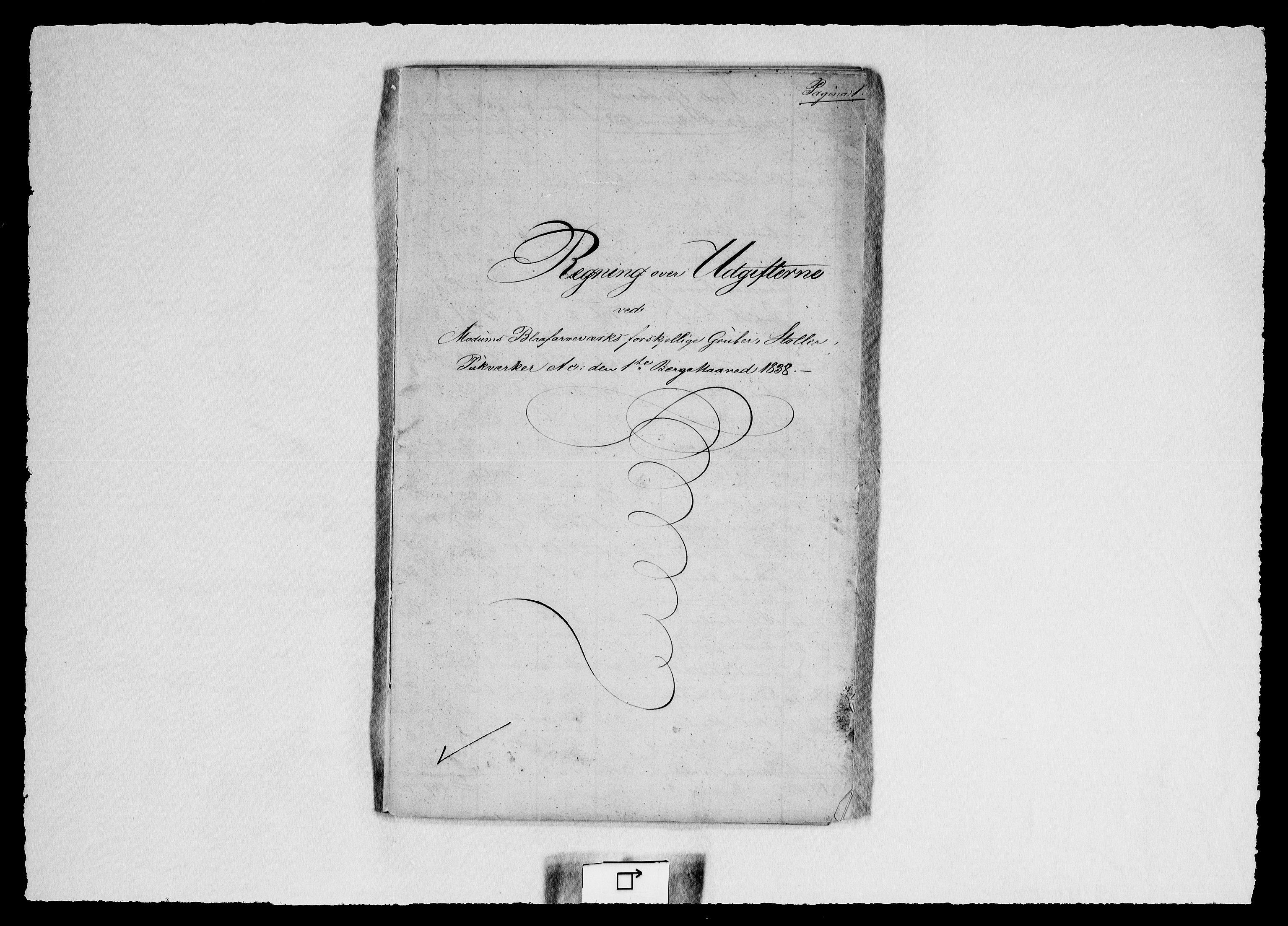 RA, Modums Blaafarveværk, G/Gd/Gdd/L0264, 1838, s. 2