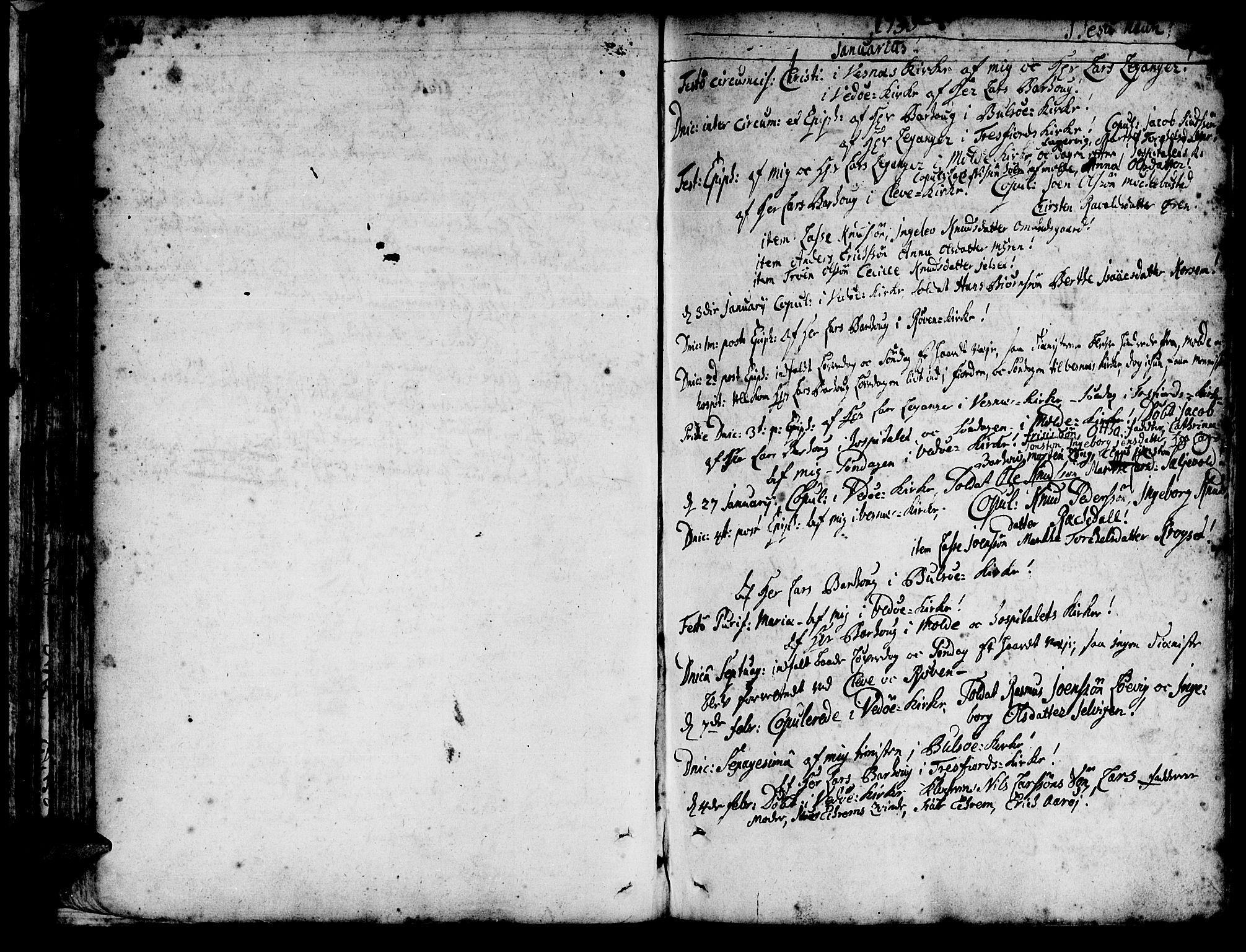 SAT, Ministerialprotokoller, klokkerbøker og fødselsregistre - Møre og Romsdal, 547/L0599: Ministerialbok nr. 547A01, 1721-1764, s. 150-151