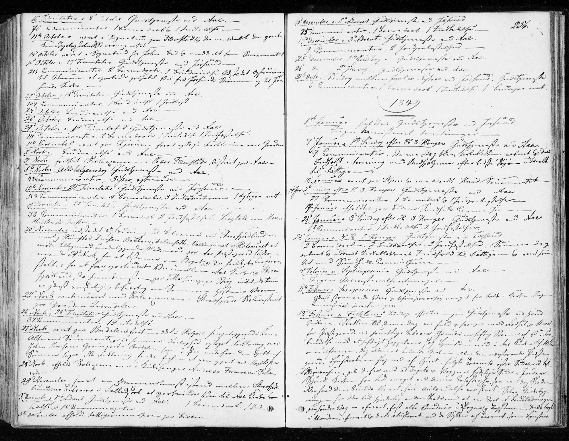 SAT, Ministerialprotokoller, klokkerbøker og fødselsregistre - Sør-Trøndelag, 655/L0677: Ministerialbok nr. 655A06, 1847-1860, s. 256