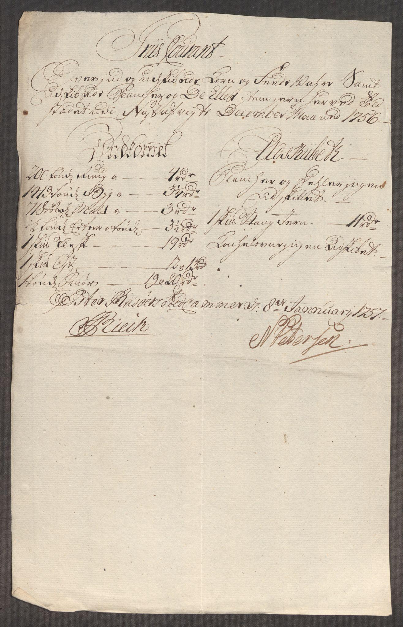 RA, Rentekammeret inntil 1814, Realistisk ordnet avdeling, Oe/L0005: [Ø1]: Priskuranter, 1753-1757, s. 600