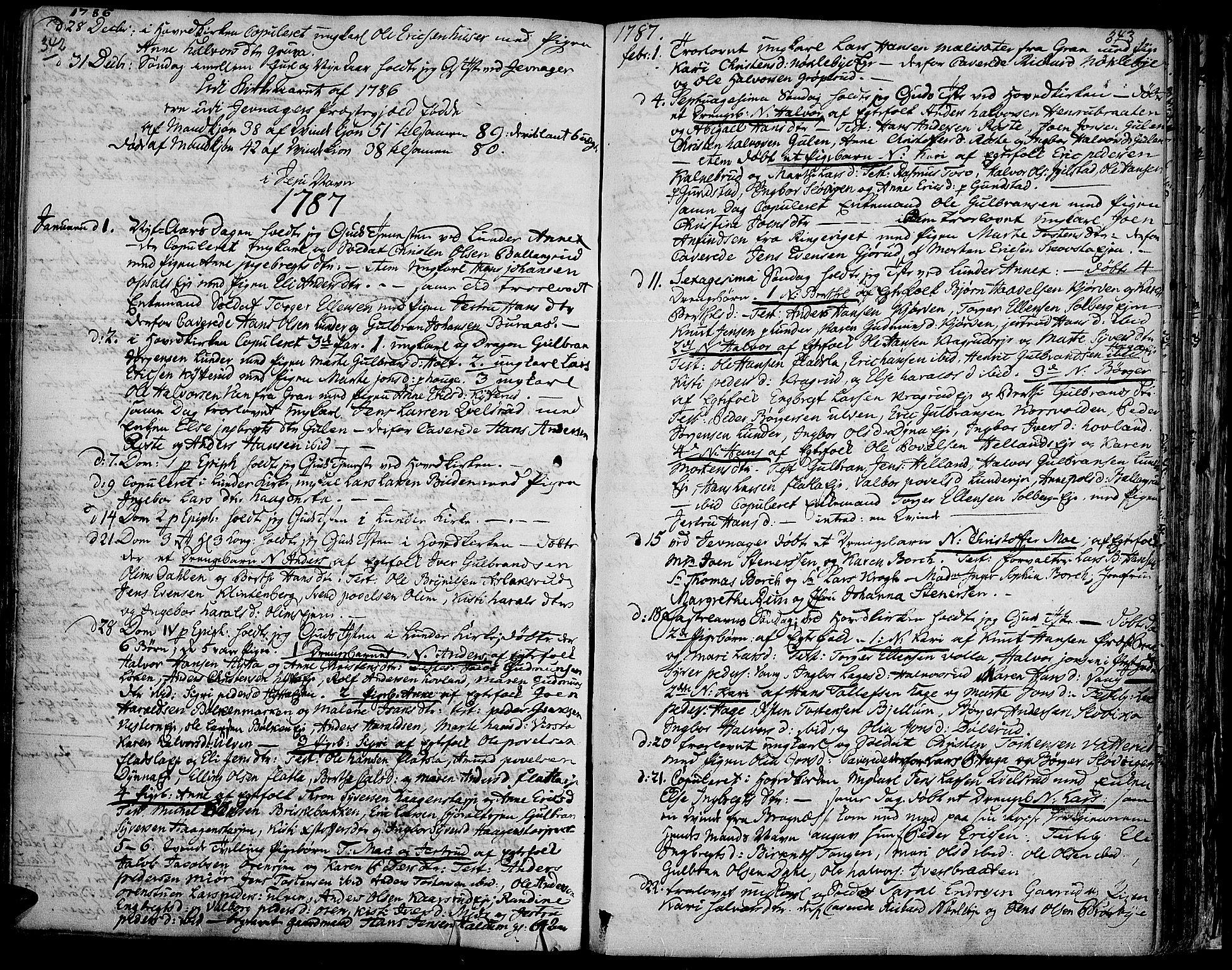 SAH, Jevnaker prestekontor, Ministerialbok nr. 3, 1752-1799, s. 342-343