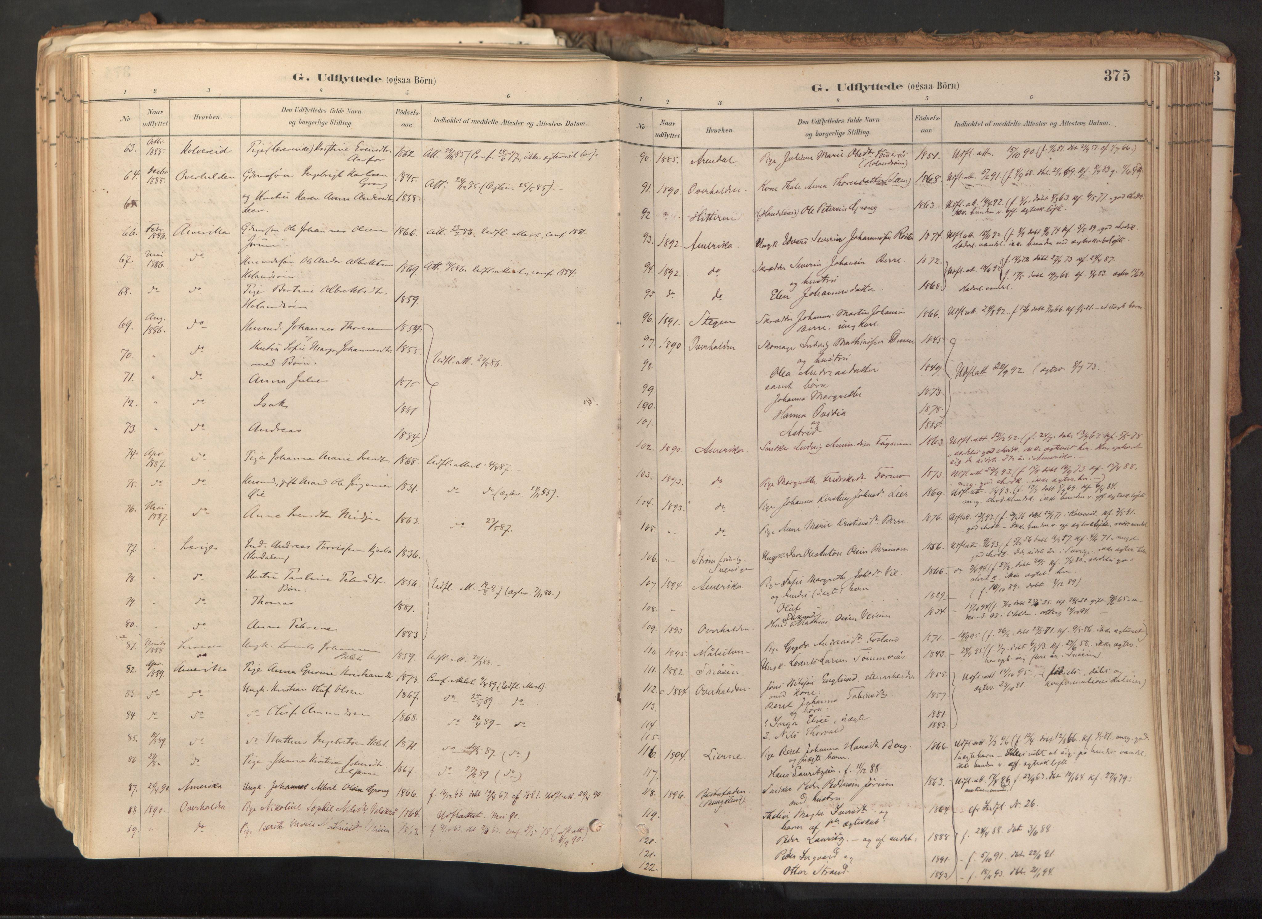 SAT, Ministerialprotokoller, klokkerbøker og fødselsregistre - Nord-Trøndelag, 758/L0519: Ministerialbok nr. 758A04, 1880-1926, s. 375