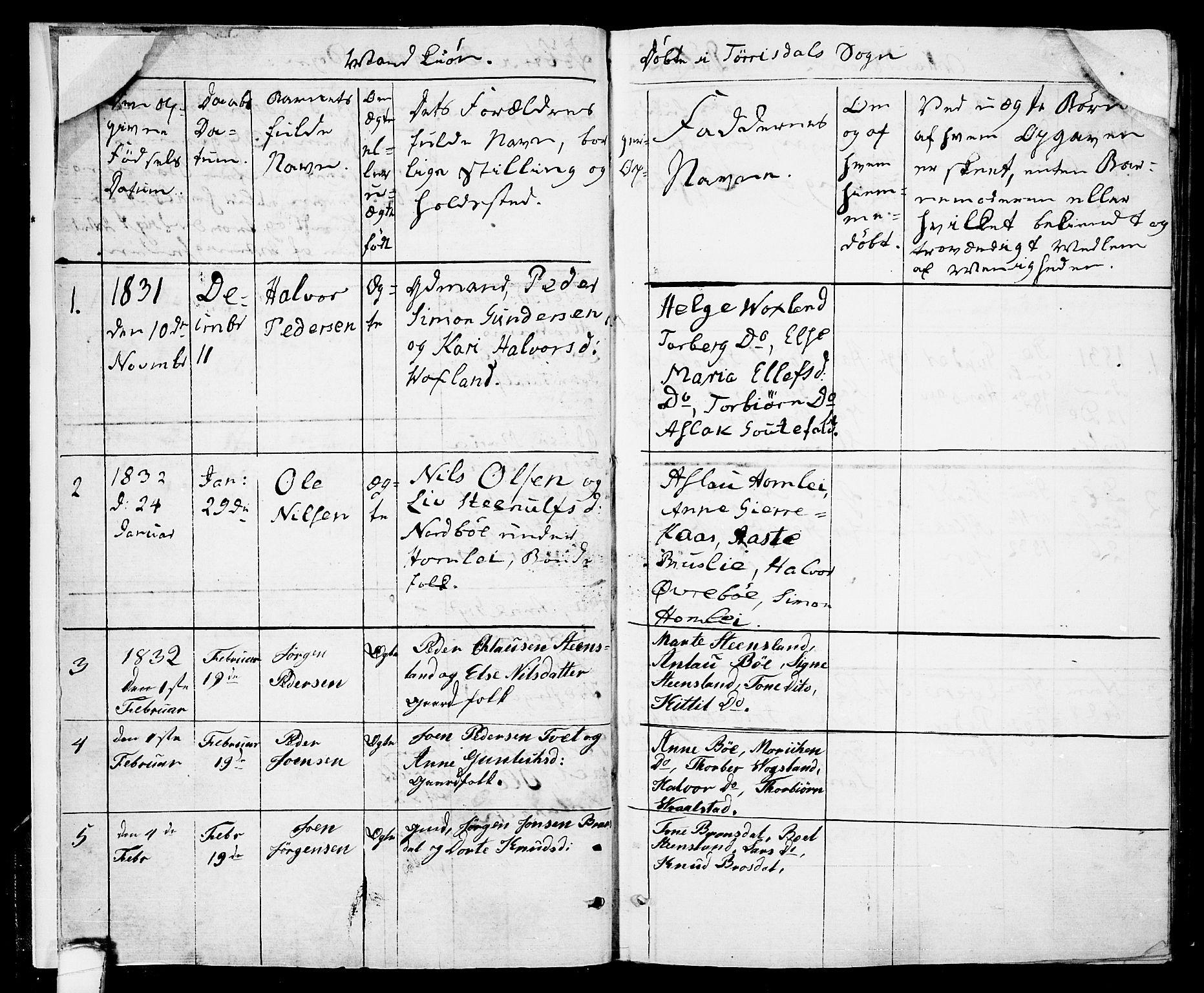 SAKO, Drangedal kirkebøker, F/Fa/L0006: Ministerialbok nr. 6, 1831-1837, s. 3