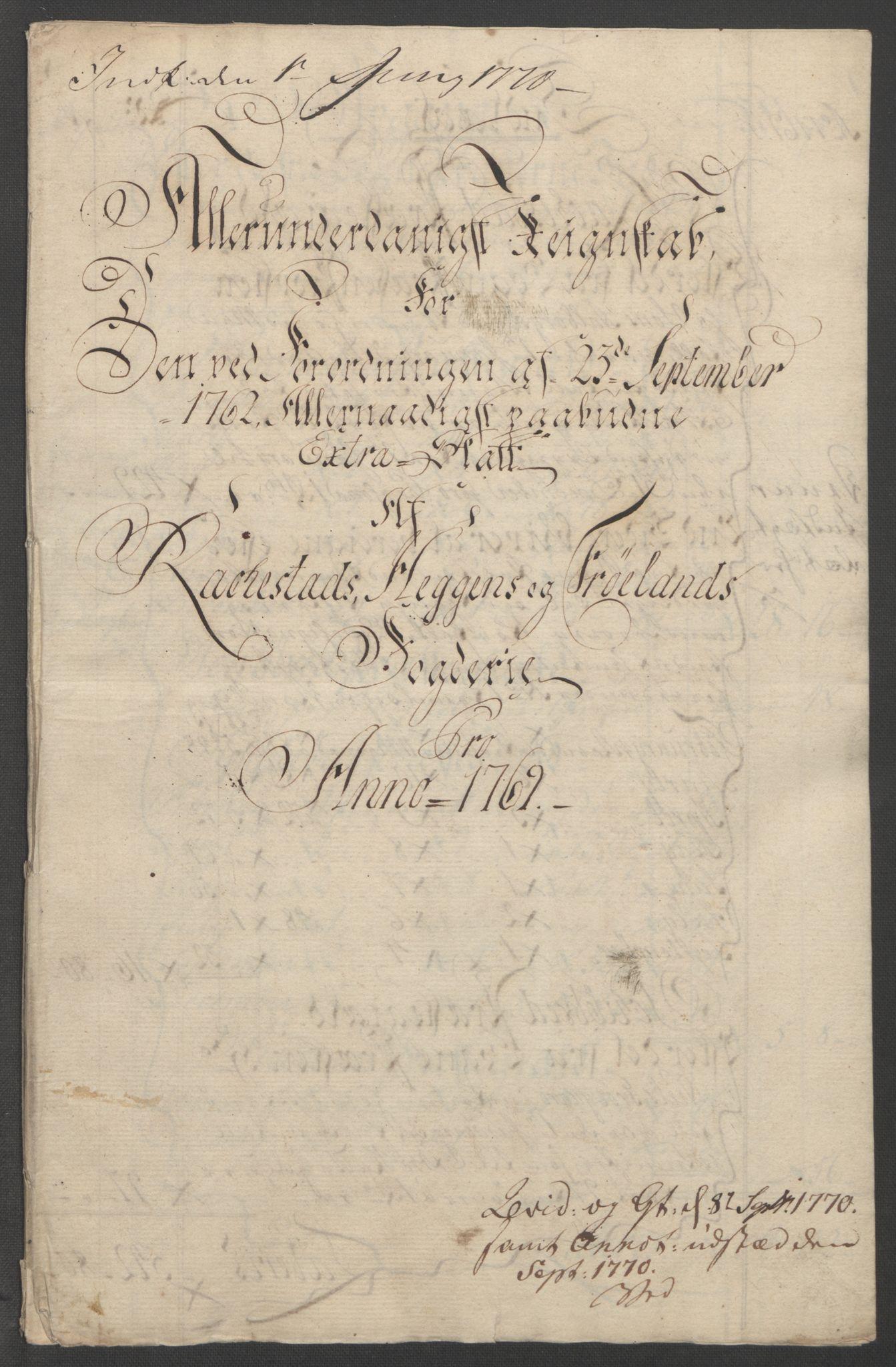 RA, Rentekammeret inntil 1814, Reviderte regnskaper, Fogderegnskap, R07/L0413: Ekstraskatten Rakkestad, Heggen og Frøland, 1762-1772, s. 404