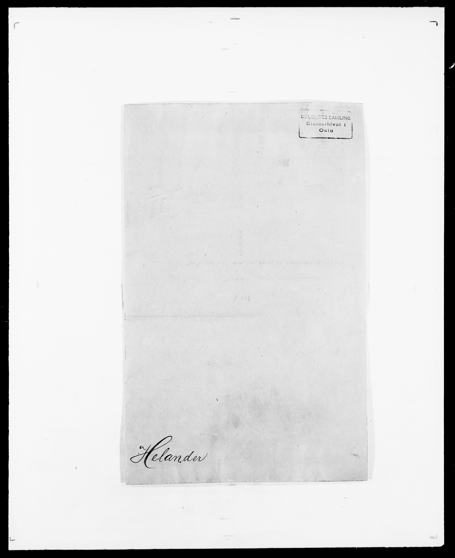 SAO, Delgobe, Charles Antoine - samling, D/Da/L0017: Helander - Hjørne, s. 1