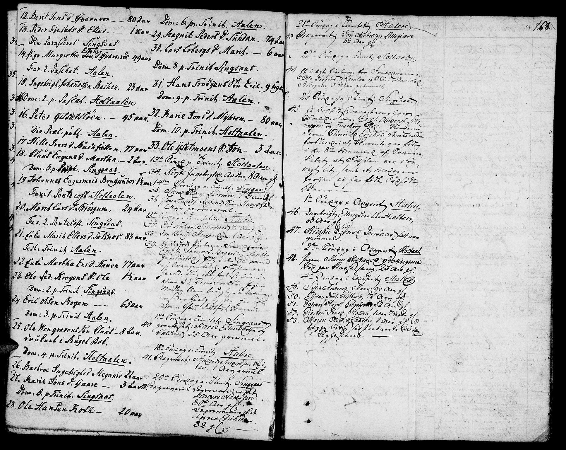 SAT, Ministerialprotokoller, klokkerbøker og fødselsregistre - Sør-Trøndelag, 685/L0953: Ministerialbok nr. 685A02, 1805-1816, s. 168