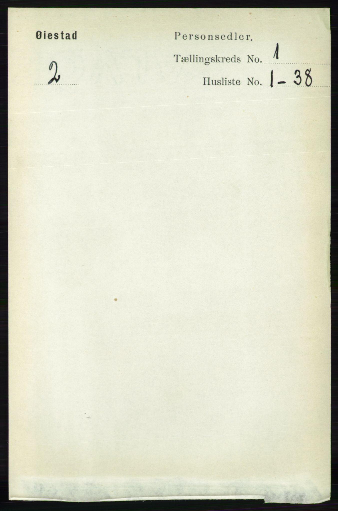 RA, Folketelling 1891 for 0920 Øyestad herred, 1891, s. 70