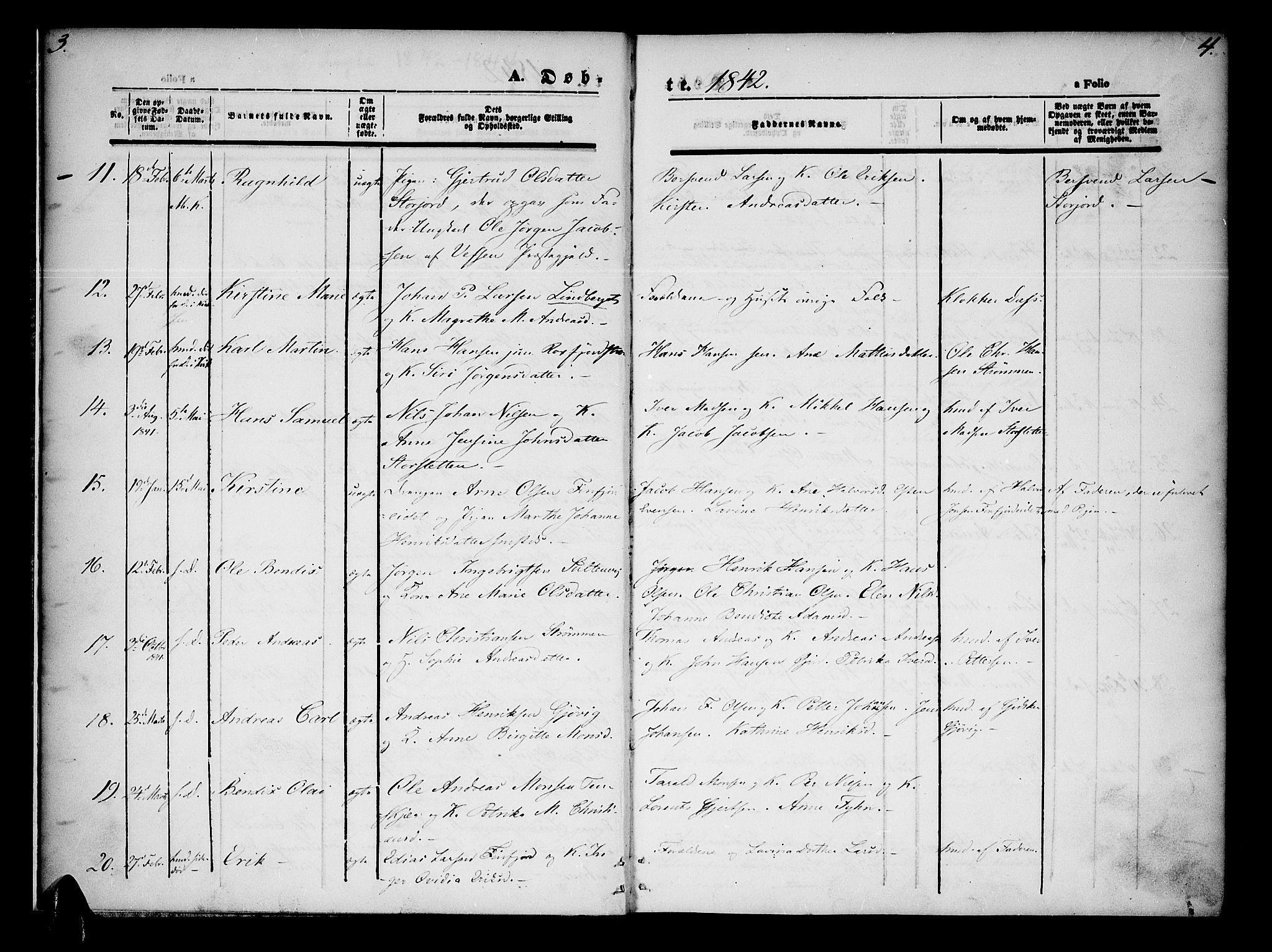 SATØ, Lenvik sokneprestembete, H/Ha/Haa/L0005kirke: Ministerialbok nr. 5, 1842-1844, s. 3-4