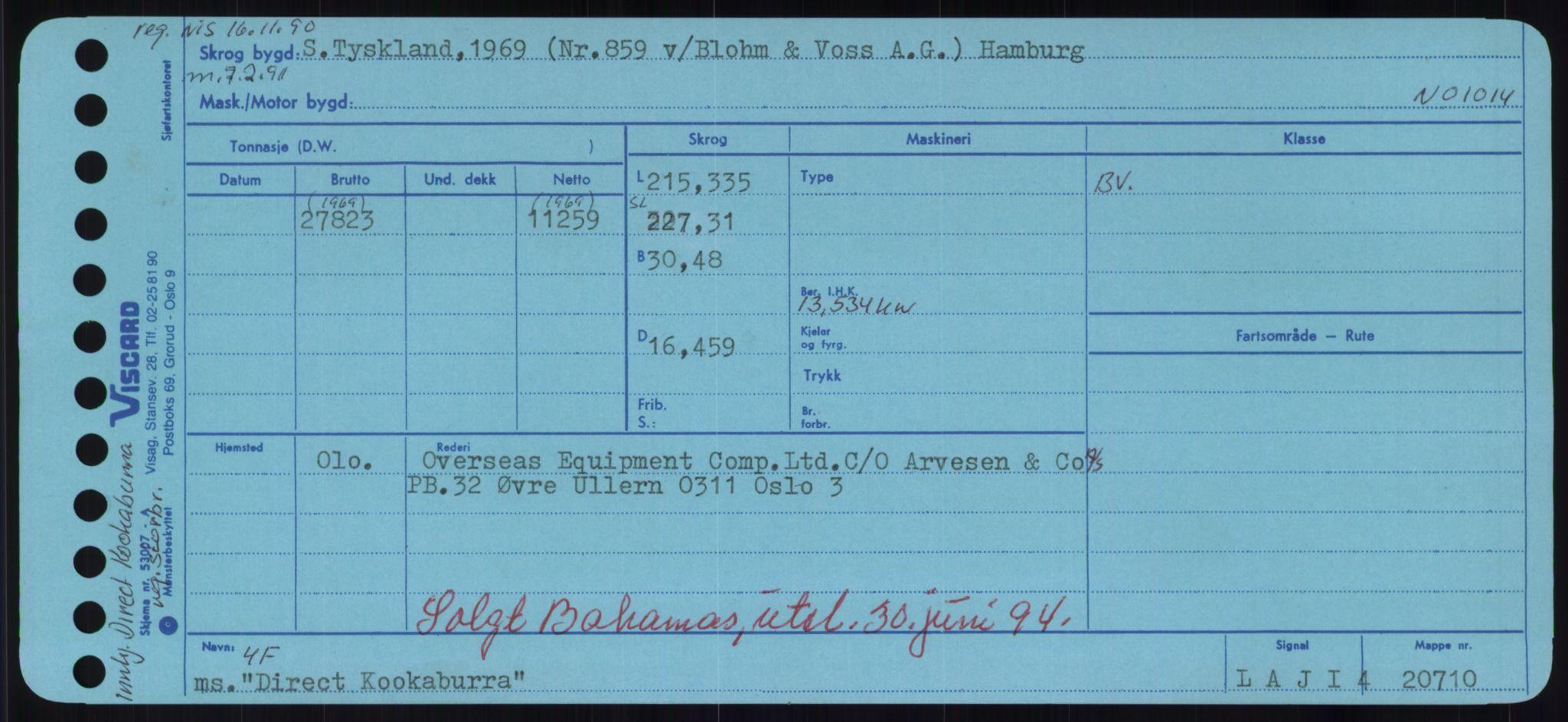 RA, Sjøfartsdirektoratet med forløpere, Skipsmålingen, H/Hd/L0008: Fartøy, C-D, s. 511