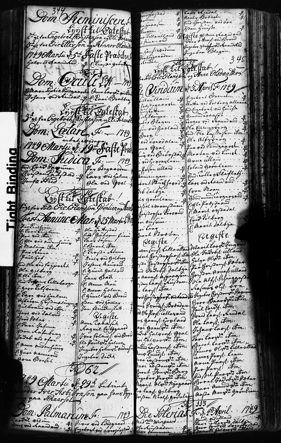 SAH, Fåberg prestekontor, Klokkerbok nr. 2, 1741-1756, s. 344-345