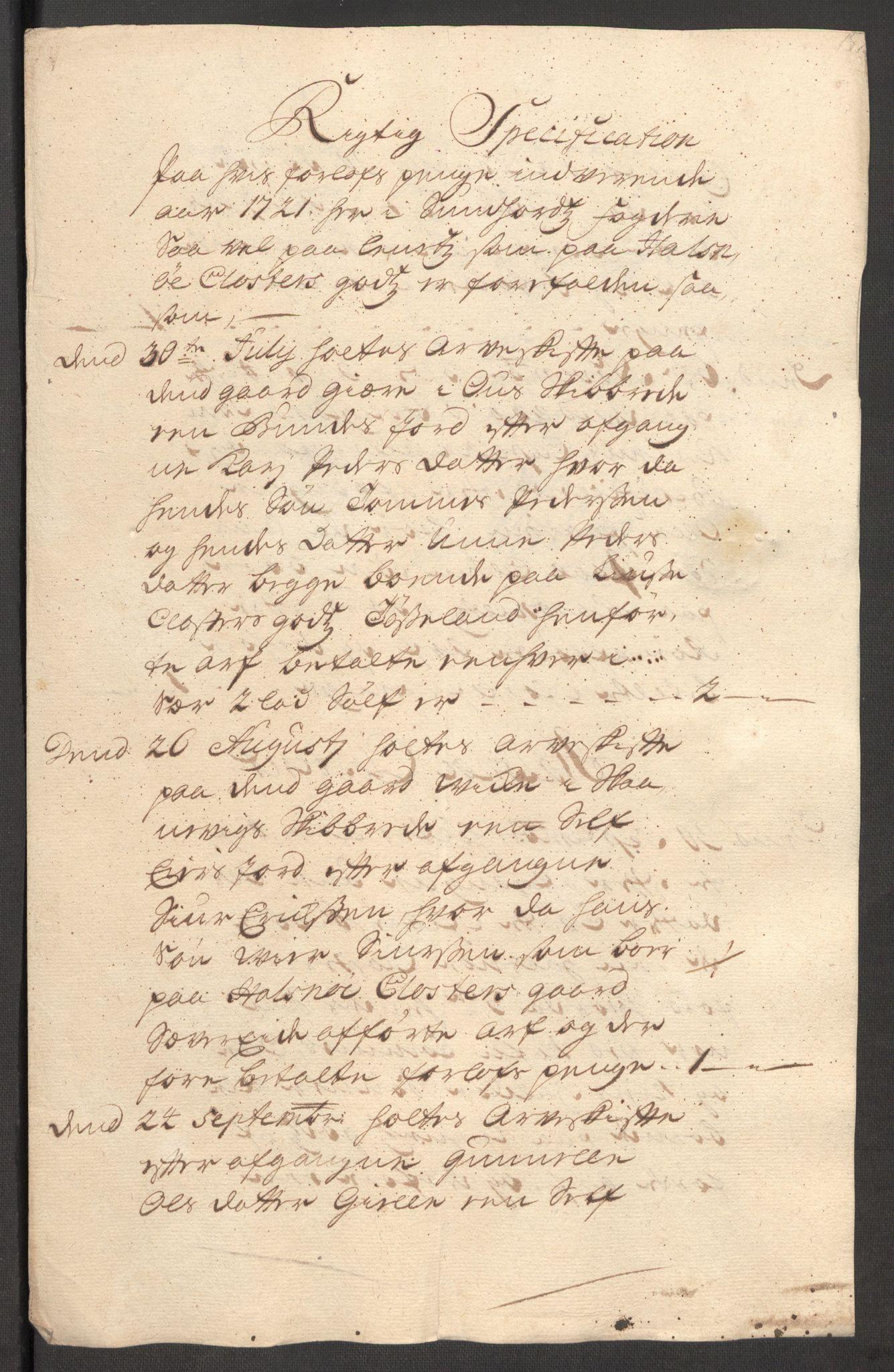 RA, Rentekammeret inntil 1814, Reviderte regnskaper, Fogderegnskap, R48/L3000: Fogderegnskap Sunnhordland og Hardanger, 1721, s. 145