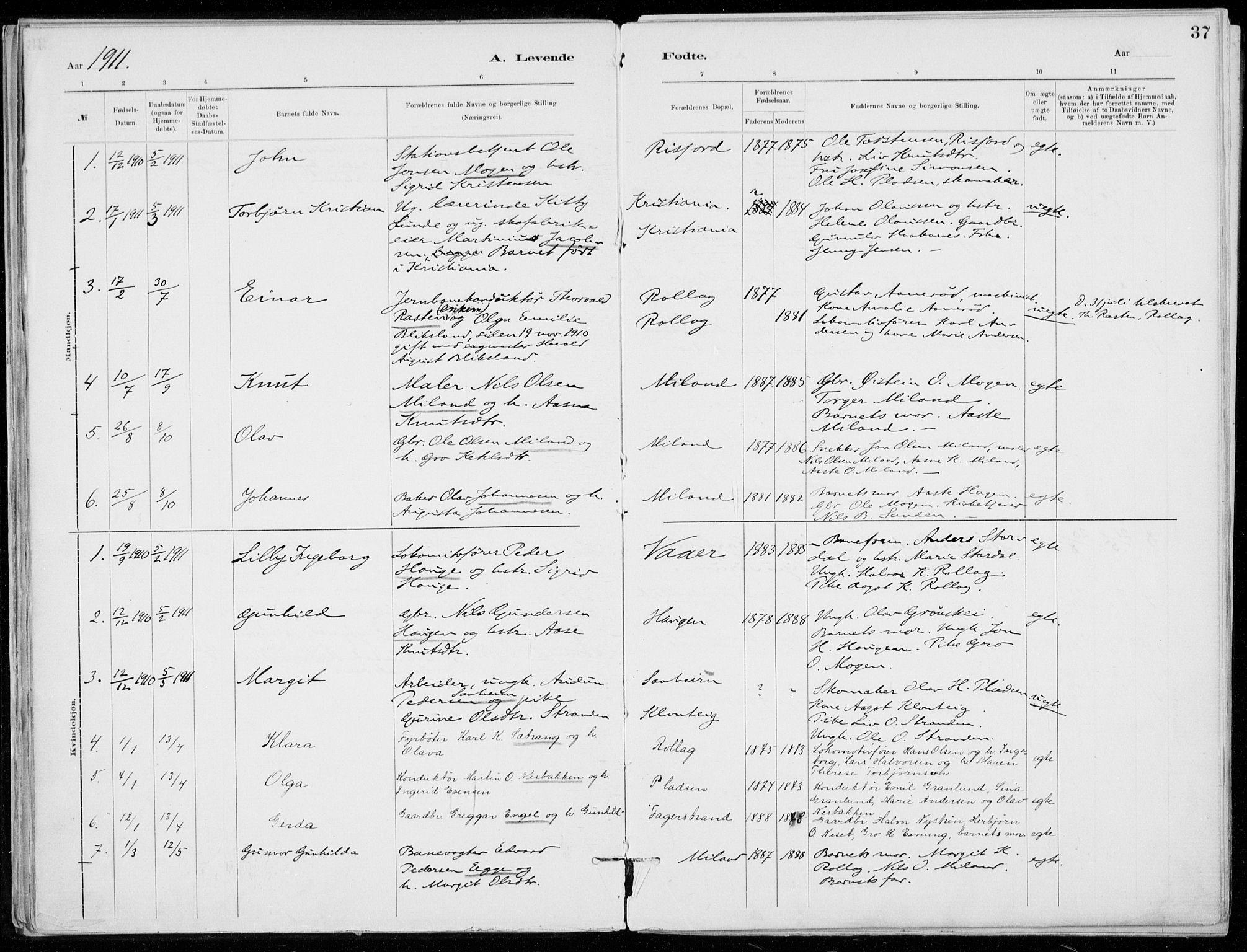 SAKO, Tinn kirkebøker, F/Fb/L0002: Ministerialbok nr. II 2, 1878-1917, s. 37