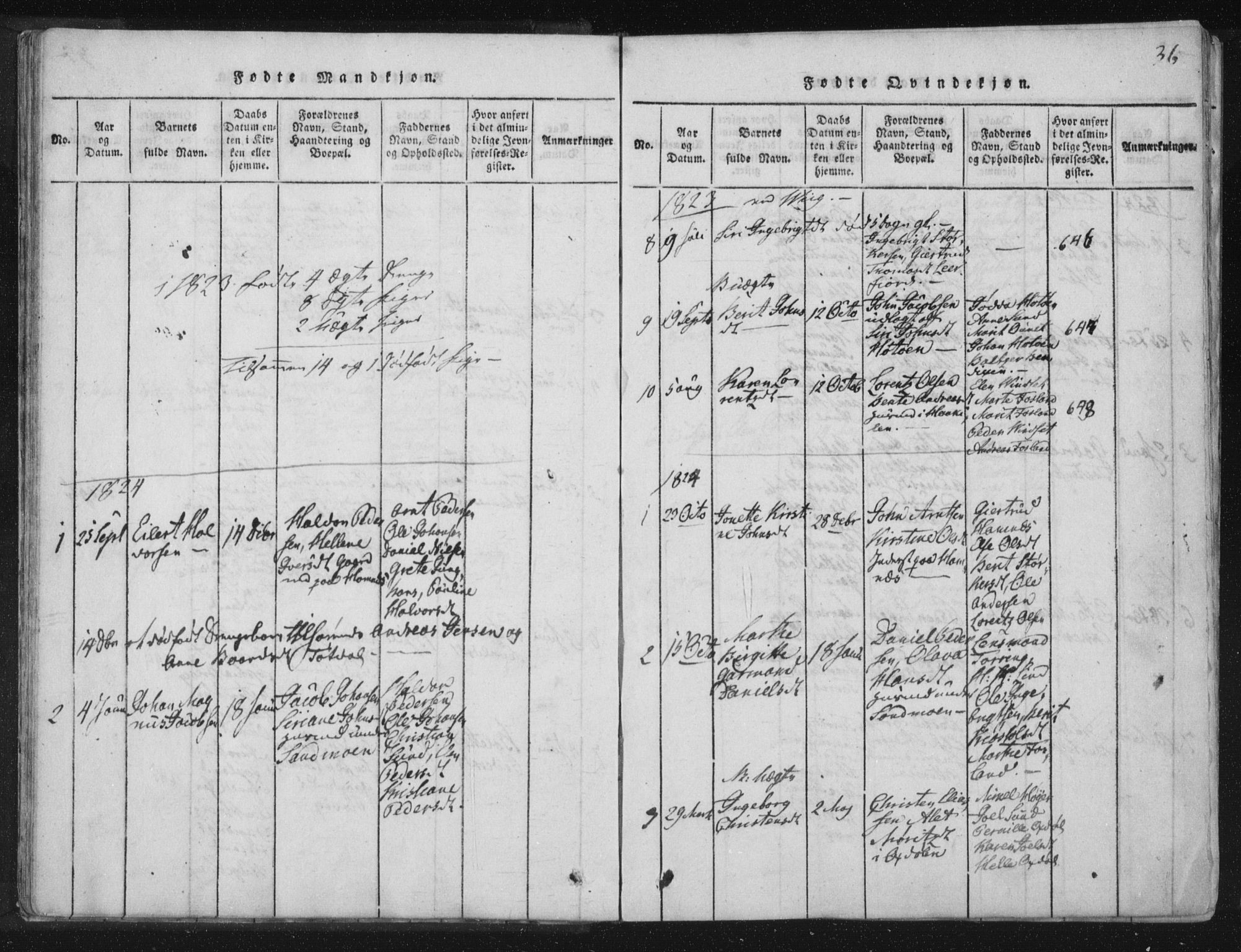 SAT, Ministerialprotokoller, klokkerbøker og fødselsregistre - Nord-Trøndelag, 773/L0609: Ministerialbok nr. 773A03 /2, 1815-1830, s. 36